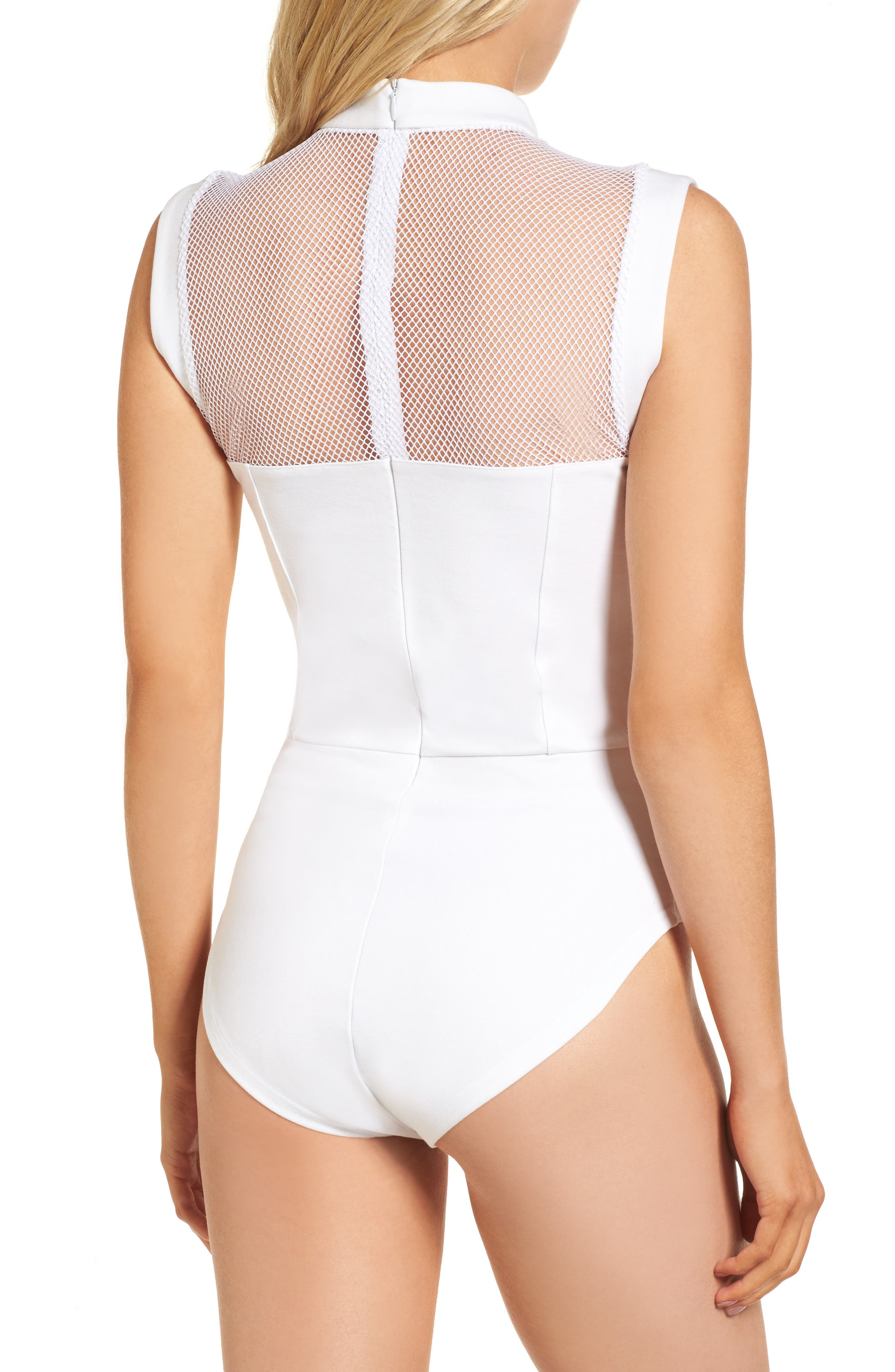 Galactica Bodysuit,                             Alternate thumbnail 3, color,                             WHITE
