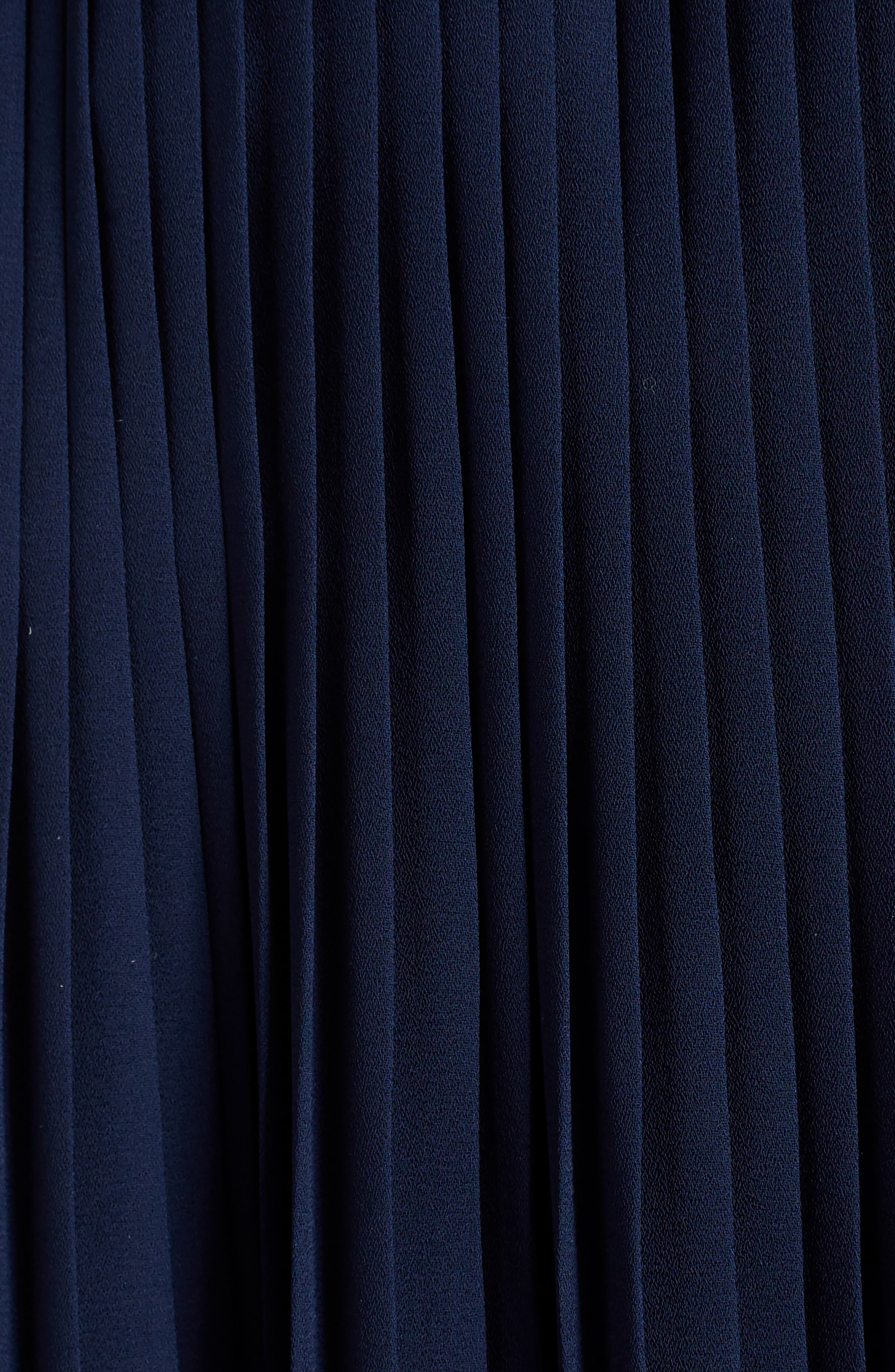 Asymmetrical Pleated Midi Skirt,                             Alternate thumbnail 5, color,                             402
