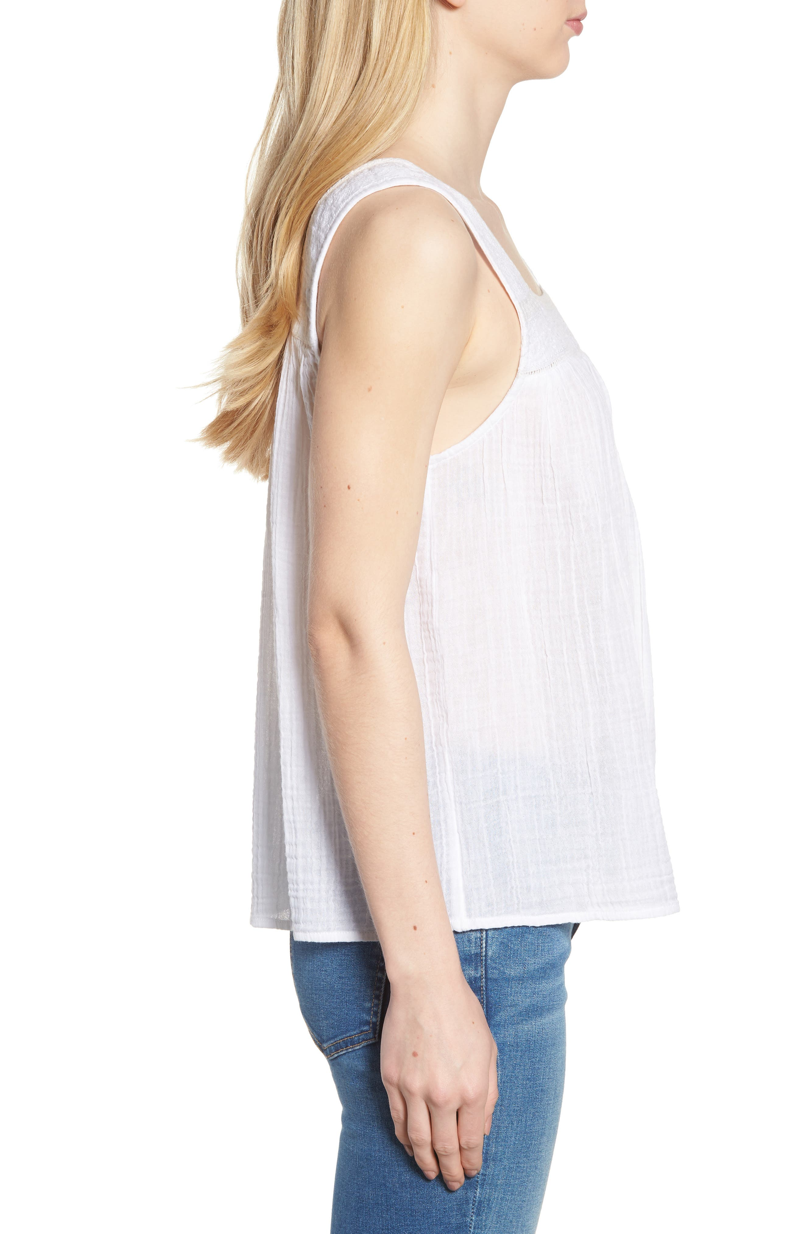 Embroidered Neck Swing Tank,                             Alternate thumbnail 12, color,