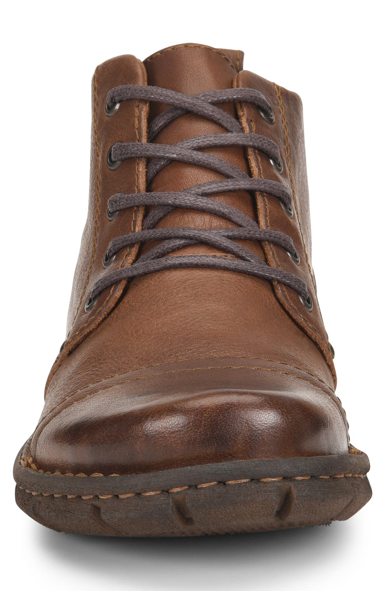 Boulder Cap Toe Boot,                             Alternate thumbnail 4, color,                             BROWN LEATHER