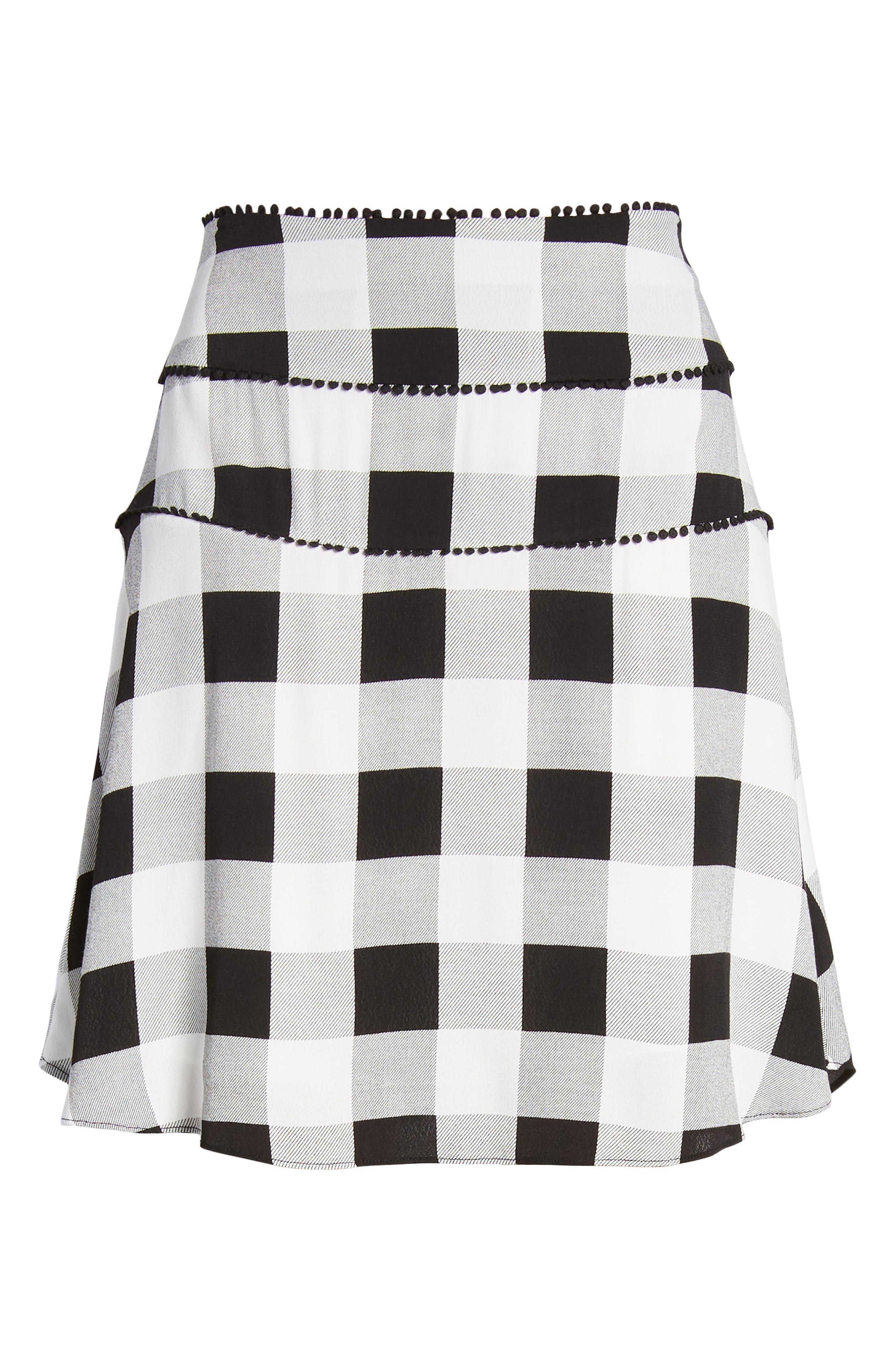 Bell High Waist Miniskirt,                             Alternate thumbnail 6, color,                             002