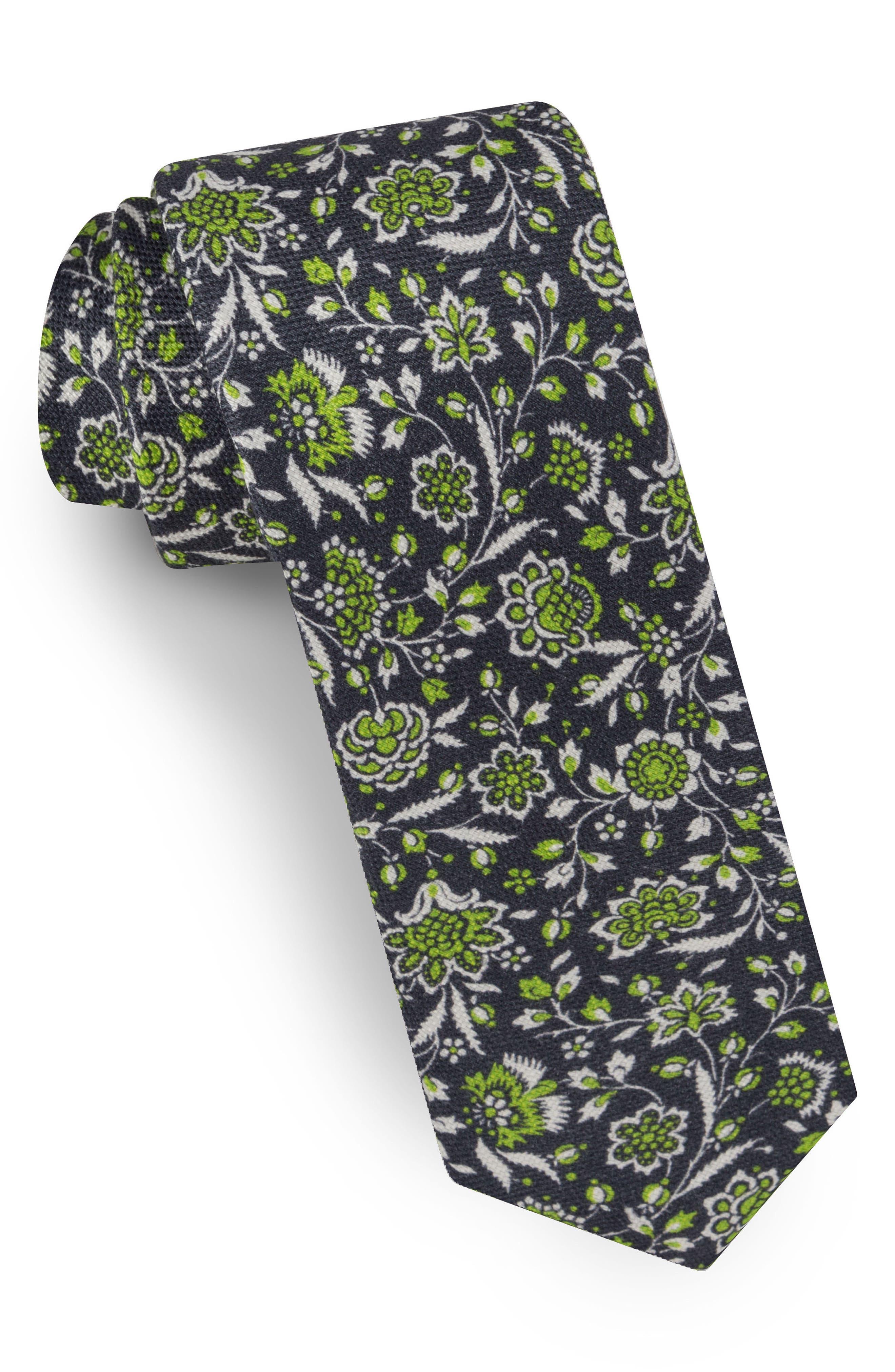 Floral Silk Tie,                         Main,                         color, 300