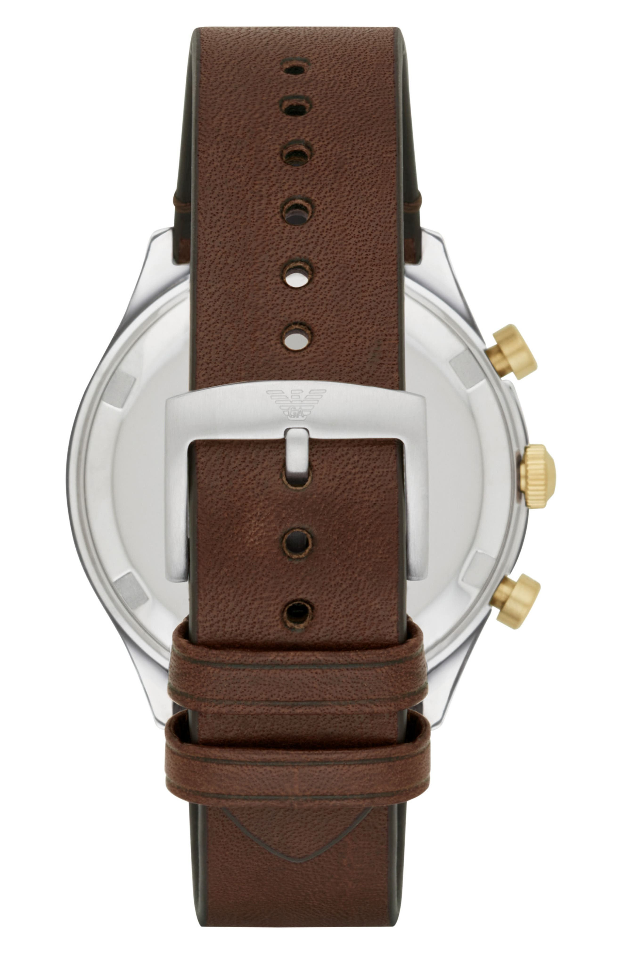 Chronograph Leather Strap Watch, 44mm,                             Alternate thumbnail 2, color,                             200