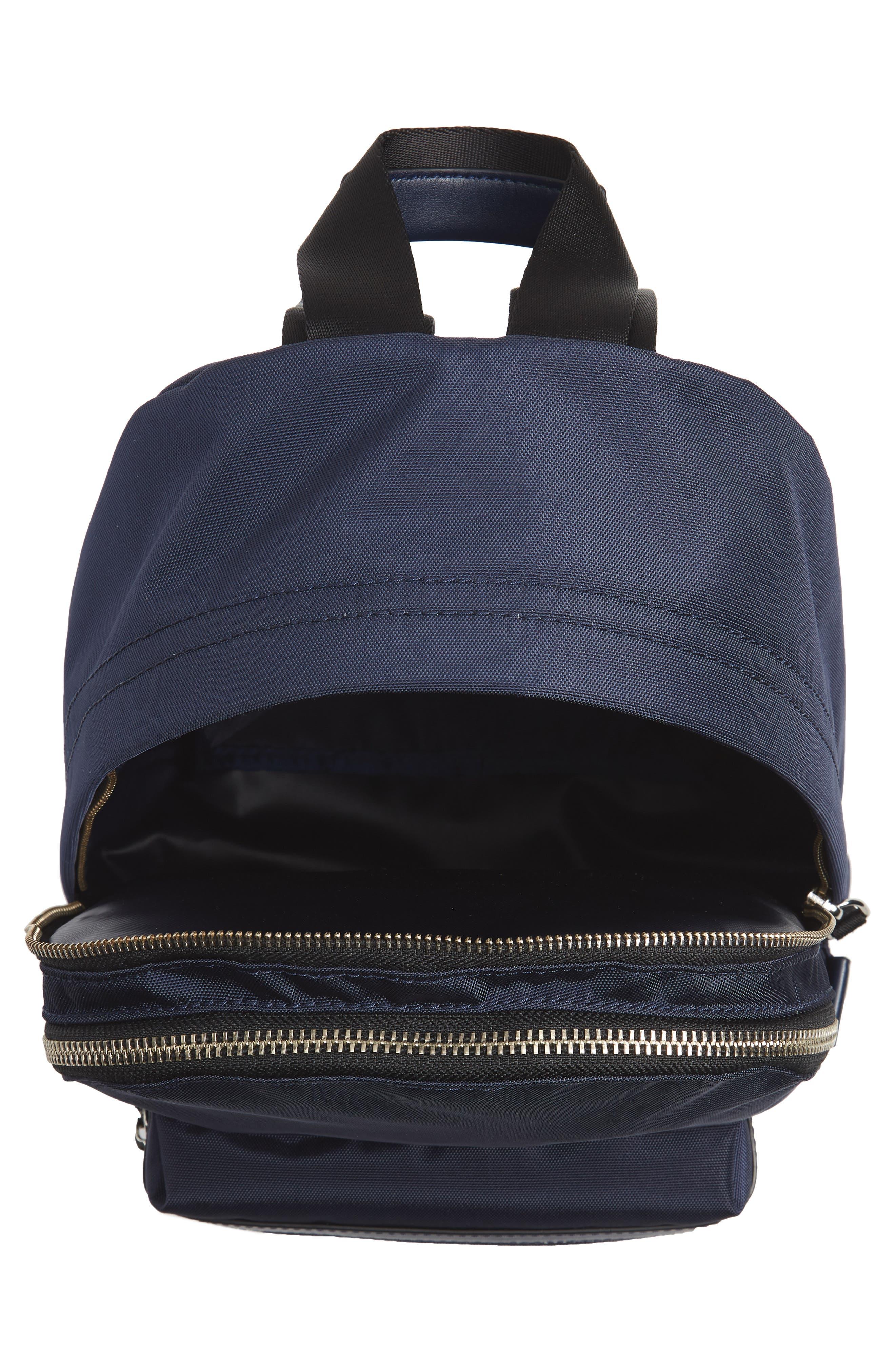 Medium Trek Nylon Backpack,                             Alternate thumbnail 4, color,                             MIDNIGHT BLUE