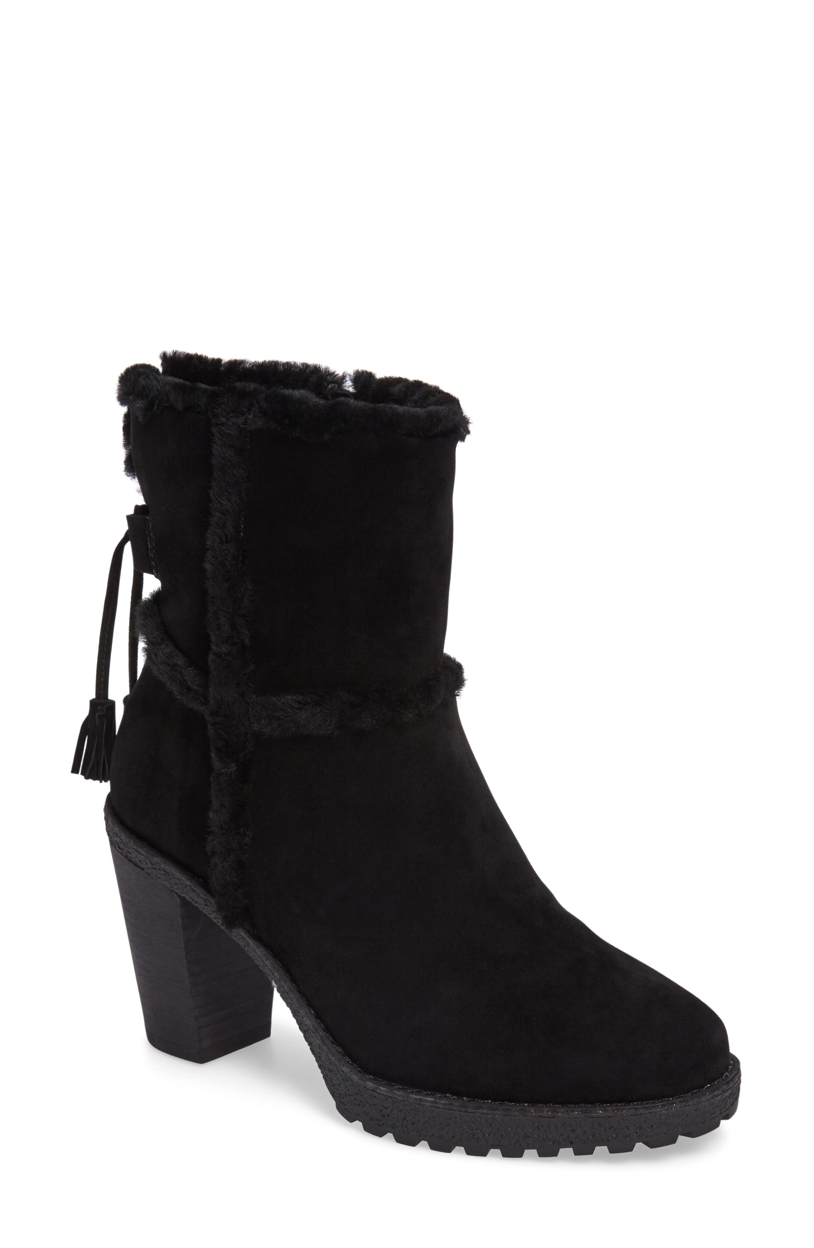 Jen Genuine Shearling Lined Water Resistant Boot,                             Alternate thumbnail 2, color,                             001