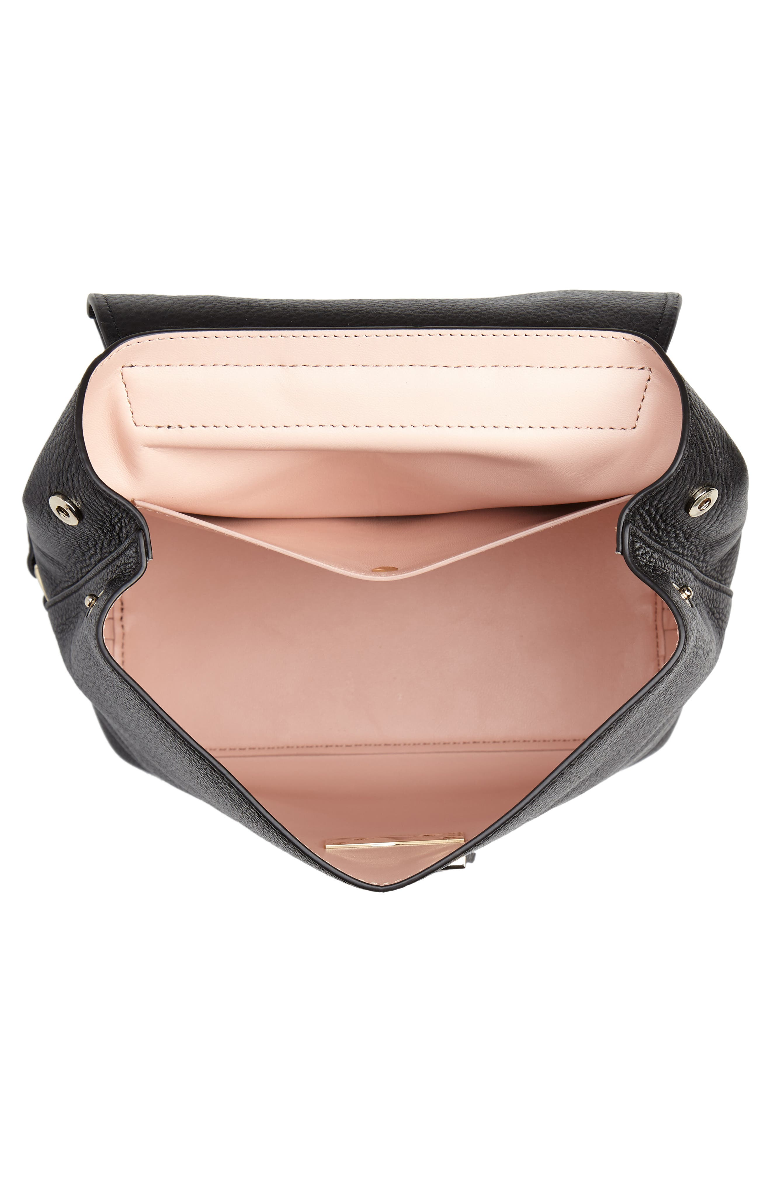 hayes street - teba leather backpack,                             Alternate thumbnail 4, color,                             BLACK