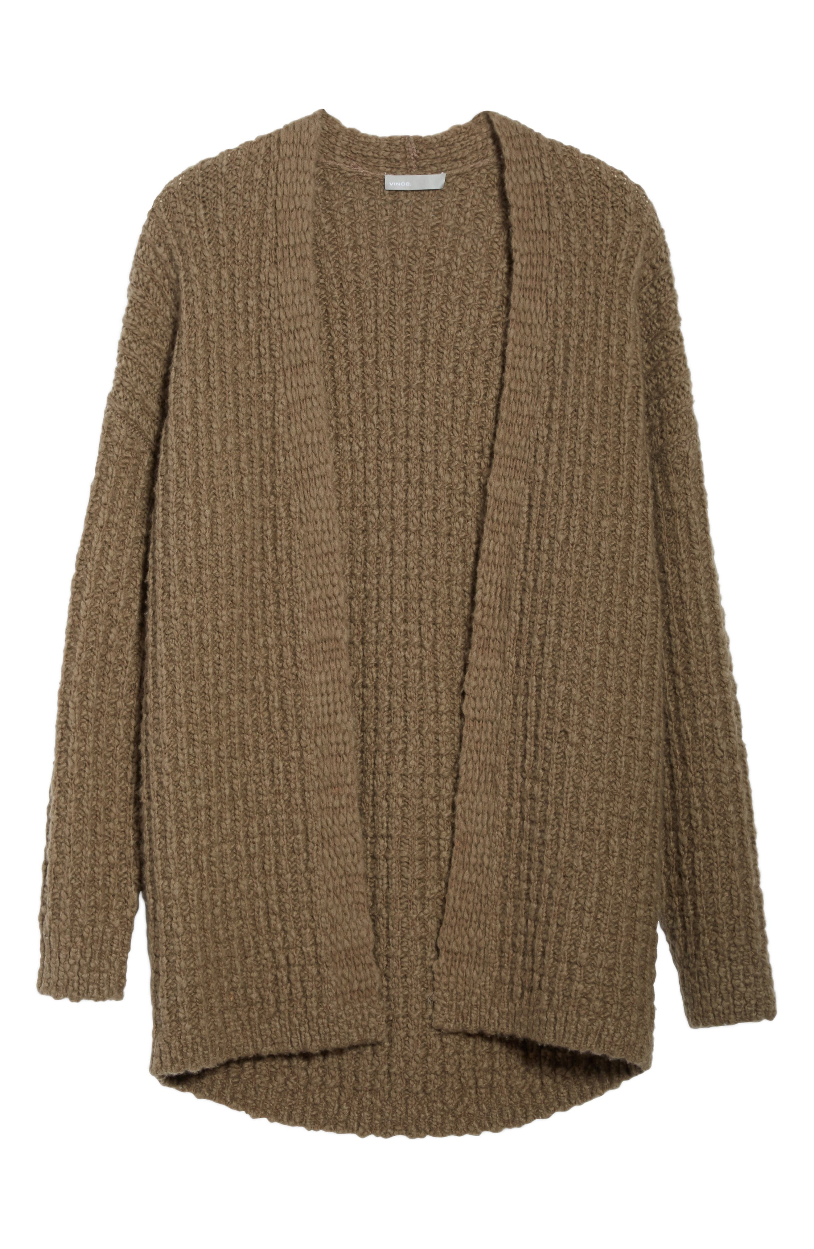 Waffle Stitch Cardigan,                             Alternate thumbnail 6, color,                             206