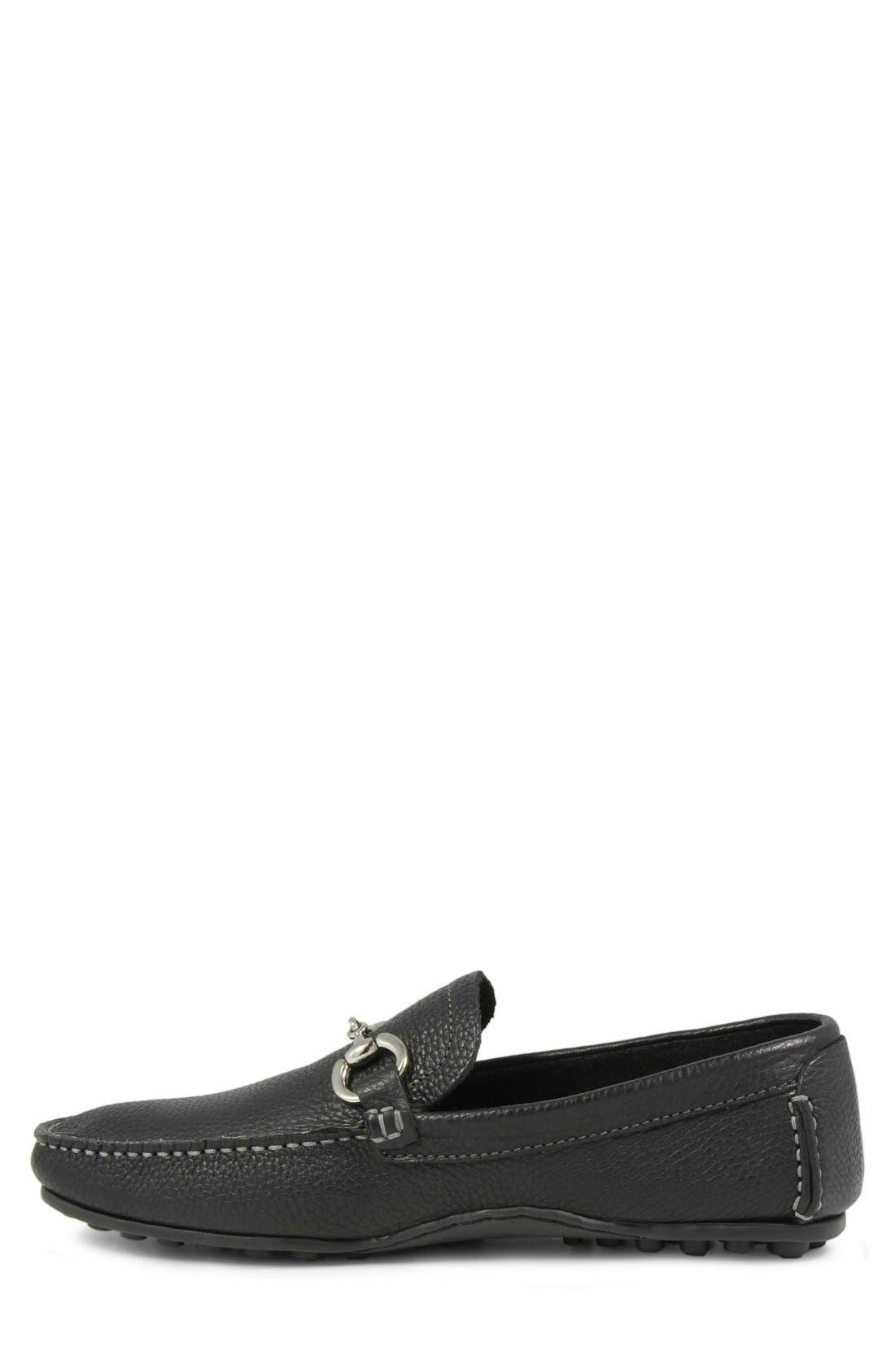 'Danforth' Driving Shoe,                             Alternate thumbnail 2, color,                             BLACK LEATHER