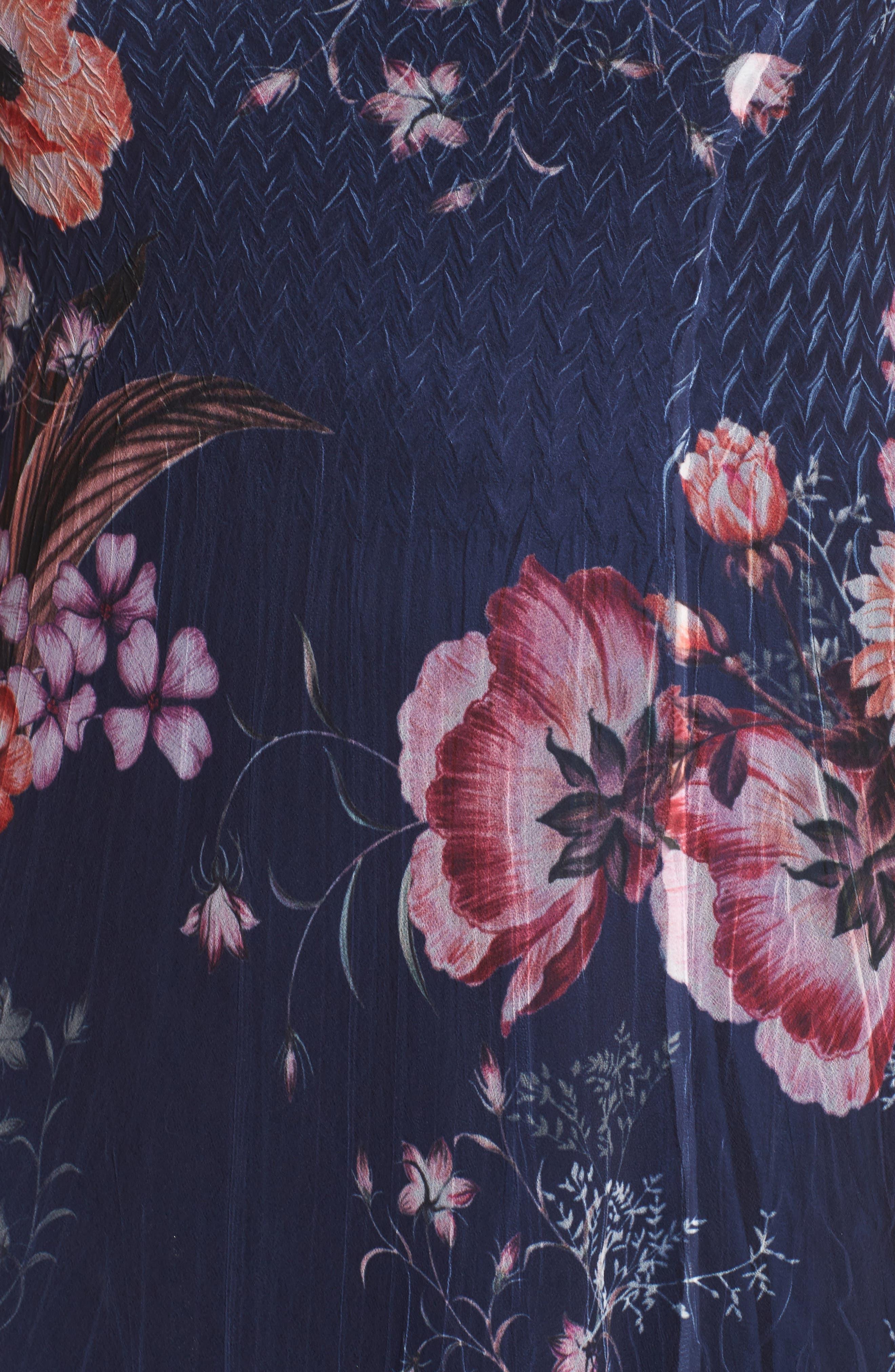 Print Chiffon Tiered Maxi Dress,                             Alternate thumbnail 5, color,                             958