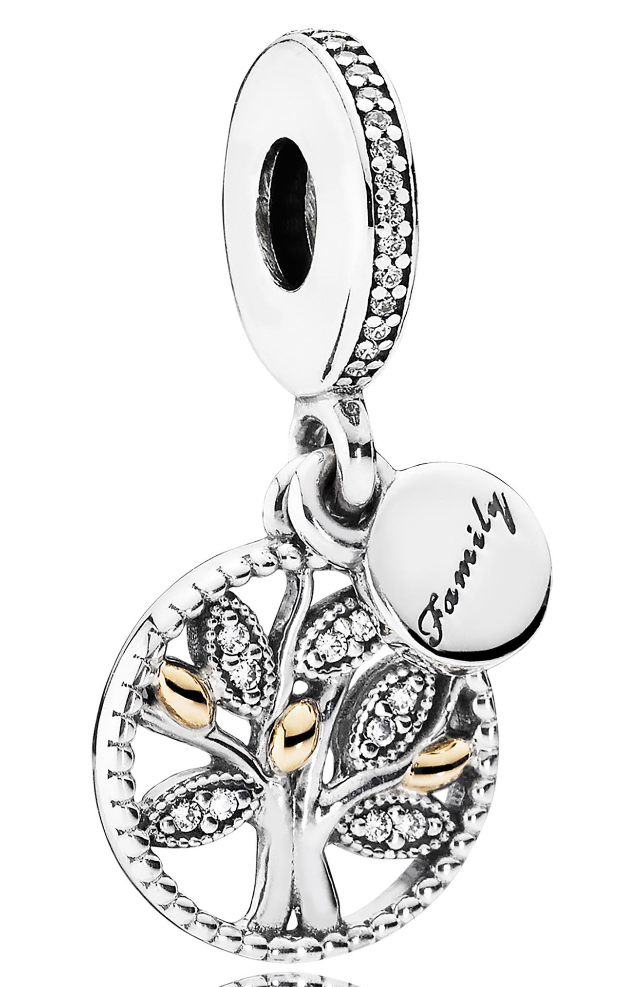 PANDORA Family Heritage Dangle Charm, Main, color, SILVER