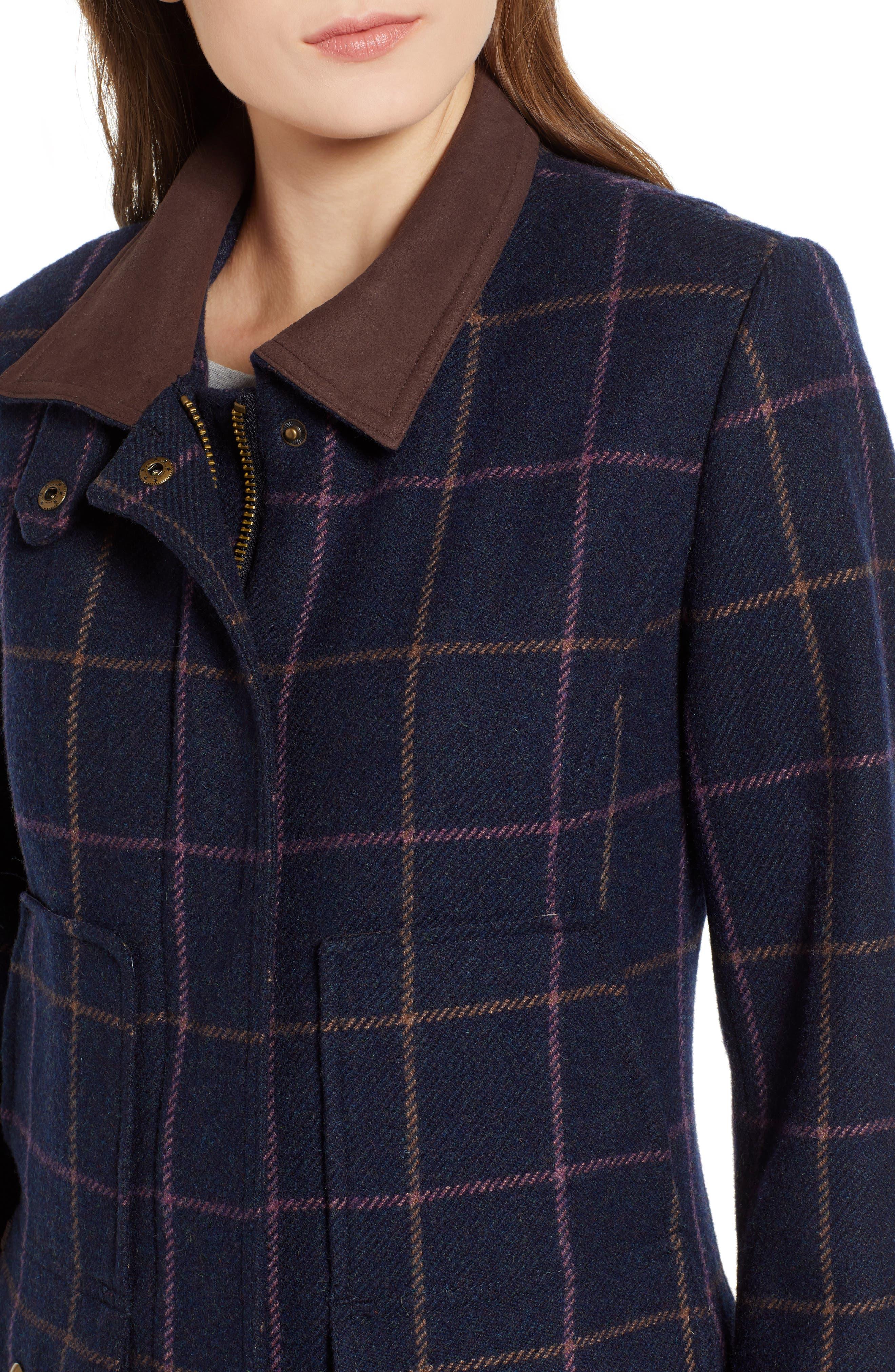 Check Plaid Coat,                             Alternate thumbnail 4, color,                             461