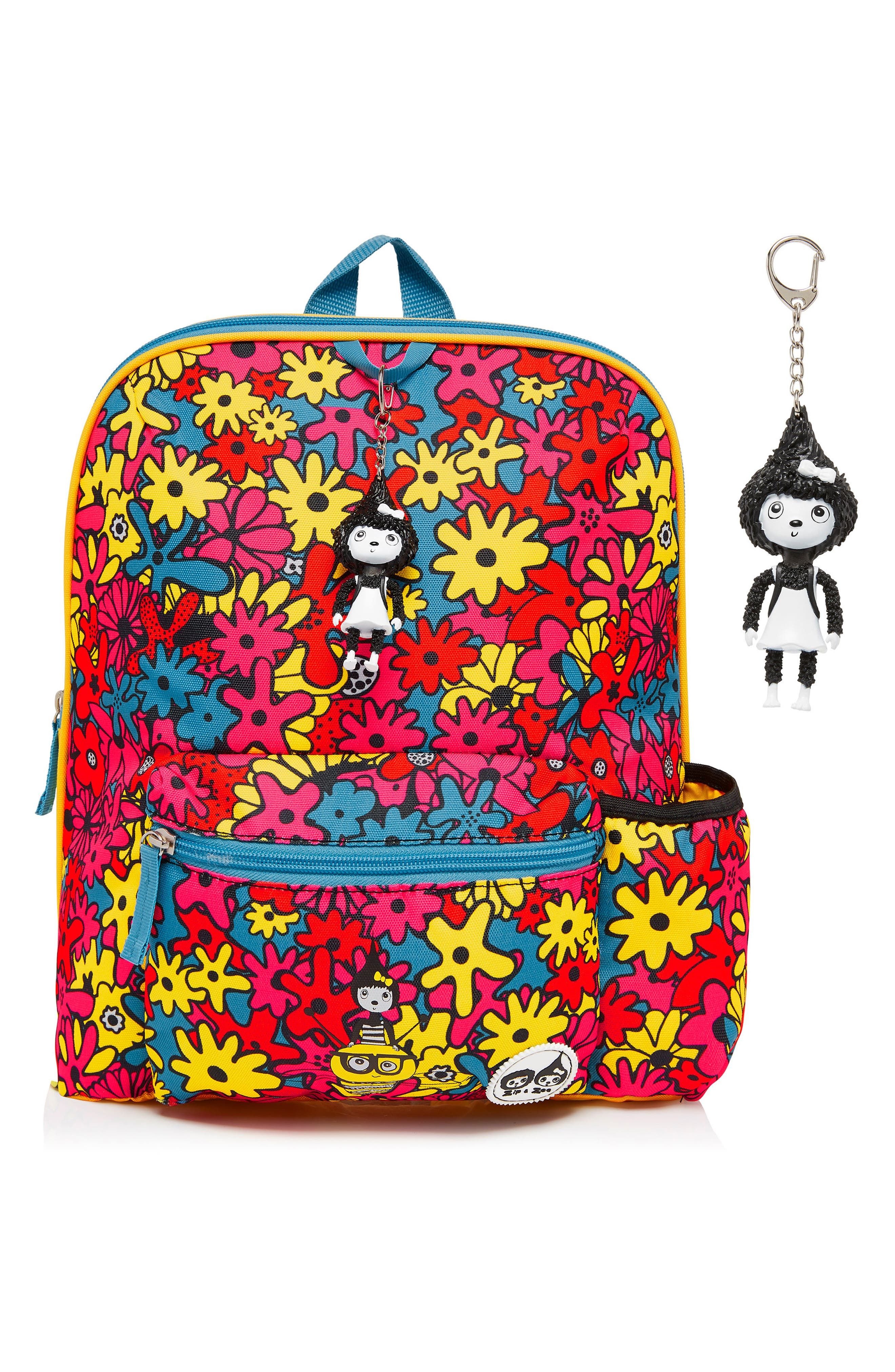 Print Backpack,                             Alternate thumbnail 4, color,                             FLORAL BRIGHTS