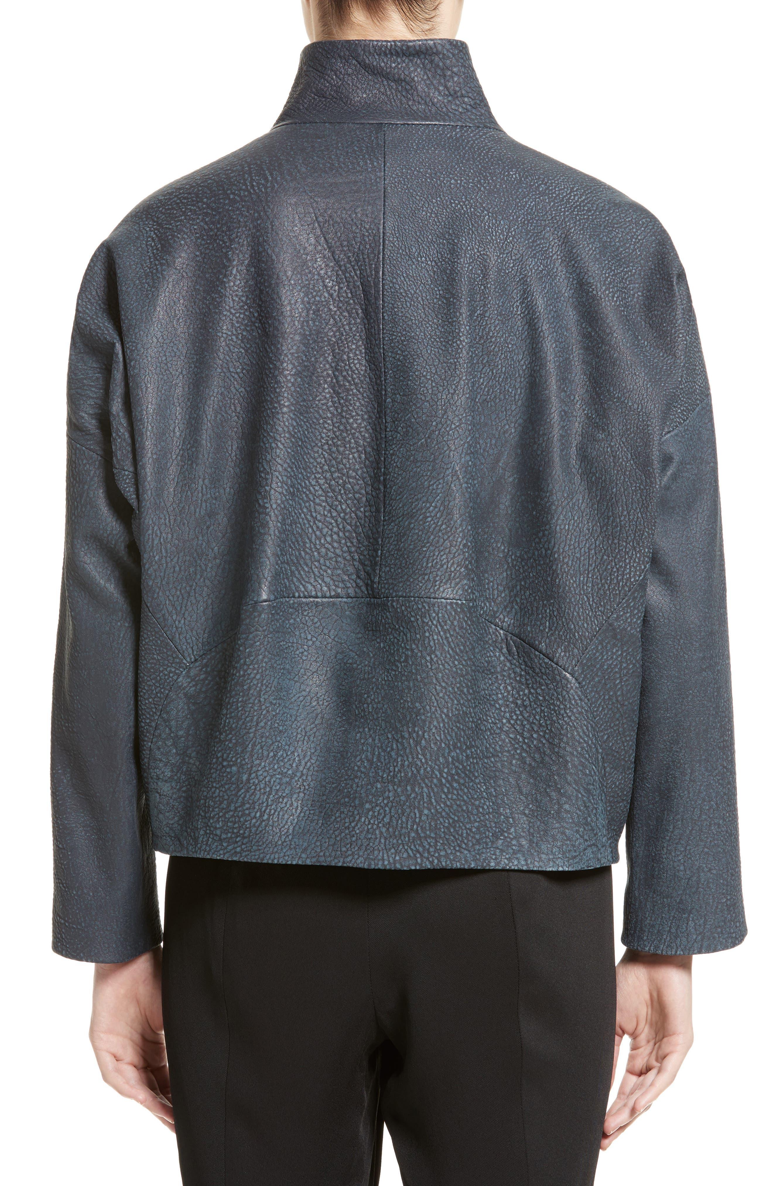 Osita Leather Bomber Jacket,                             Alternate thumbnail 2, color,                             002