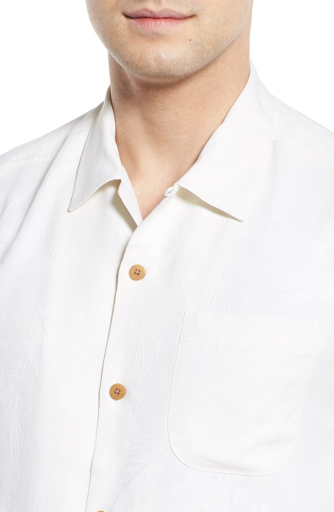 Rio Fronds Short Sleeve Silk Sport Shirt,                             Alternate thumbnail 36, color,