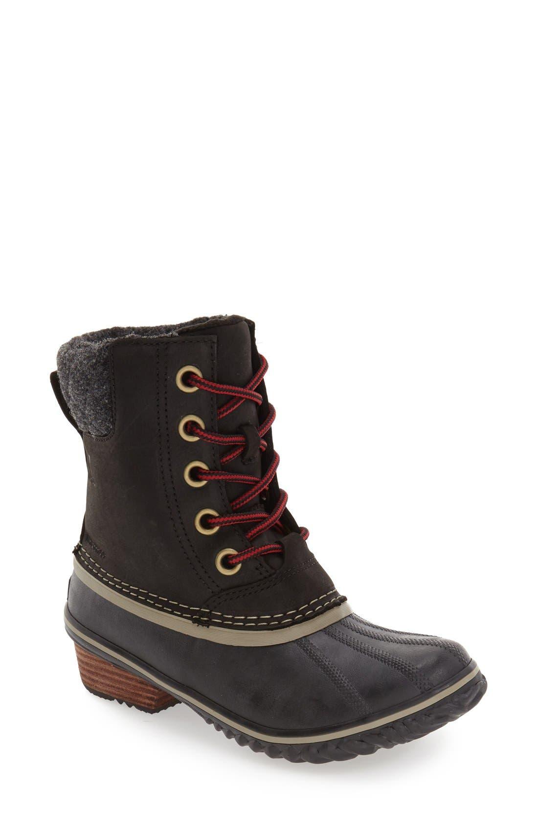SOREL,                             Slimpack II Waterproof Boot,                             Main thumbnail 1, color,                             BLACK