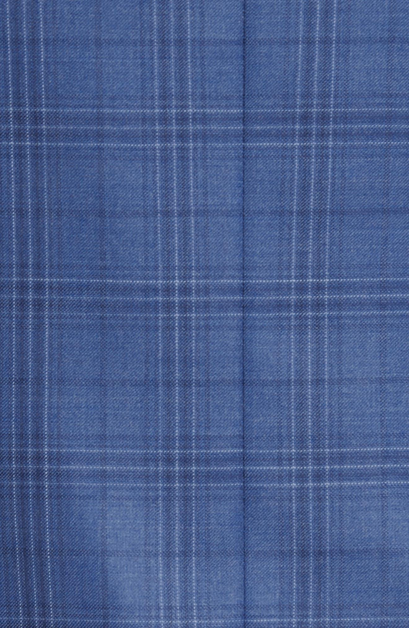 Flynn Classic Fit Plaid Wool Sport Coat,                             Alternate thumbnail 8, color,                             420