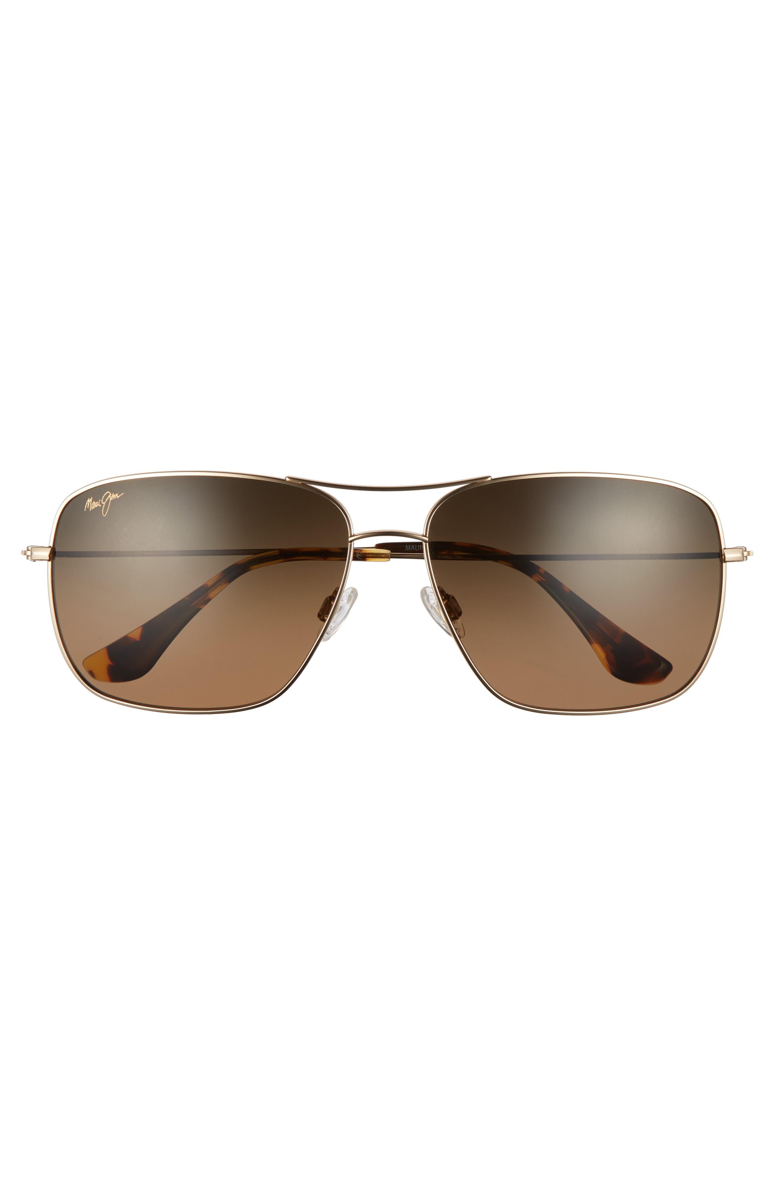 Cook Pines 63mm Polarized Titanium Aviator Sunglasses,                             Alternate thumbnail 12, color,