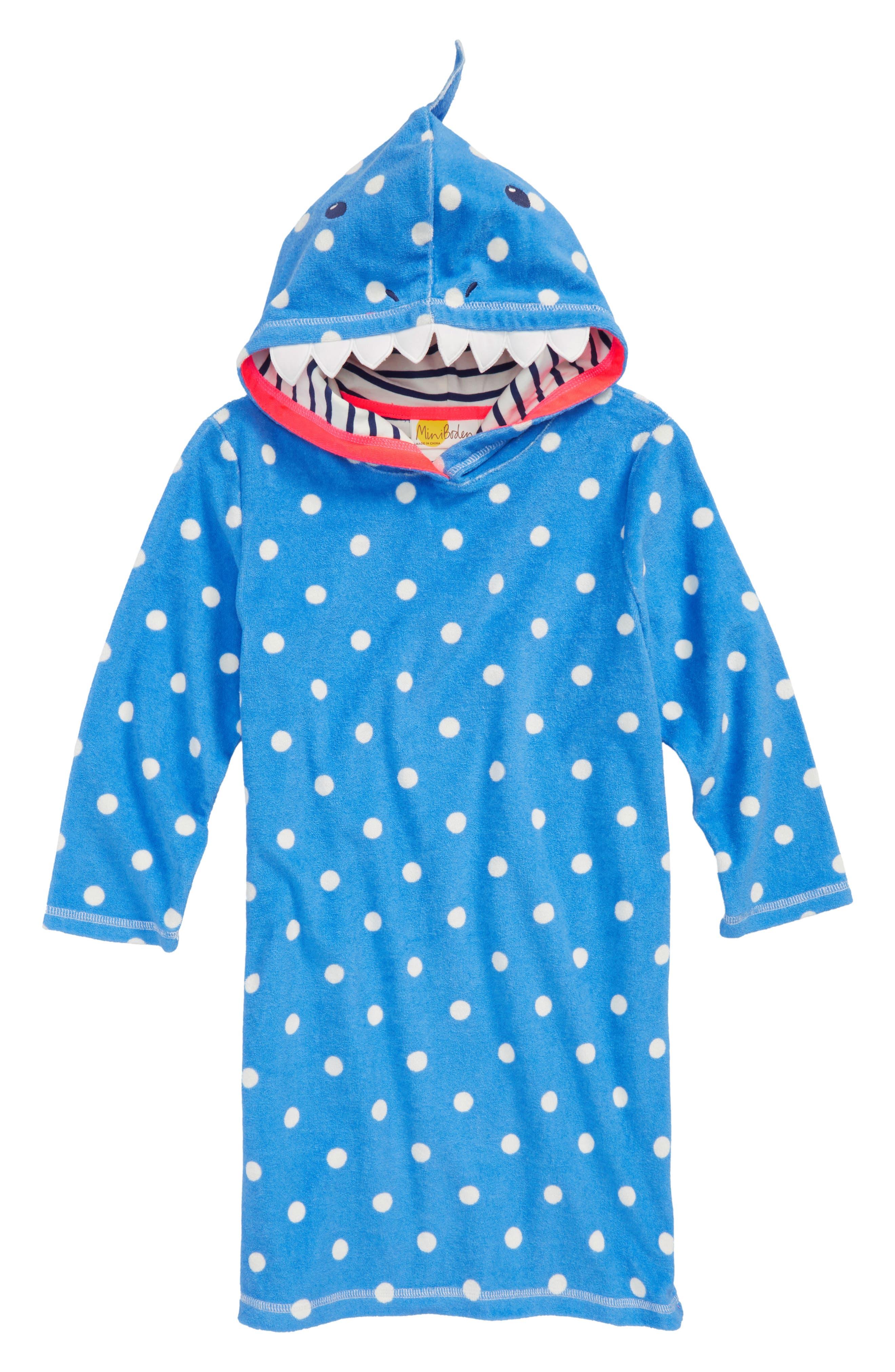 Toweling Appliqué Beach Dress,                         Main,                         color, 424