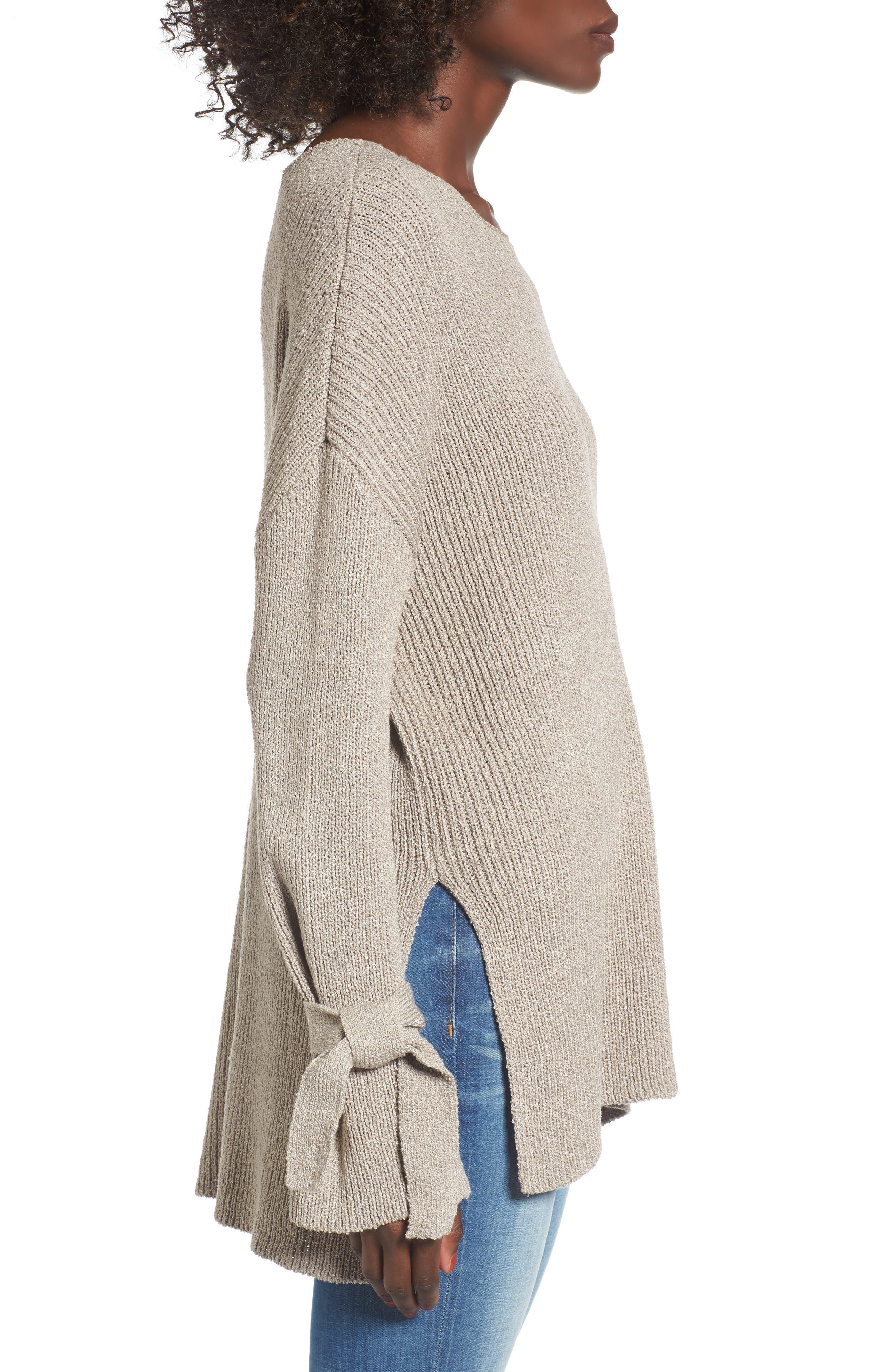 Tie Sleeve Sweater,                             Alternate thumbnail 3, color,                             268