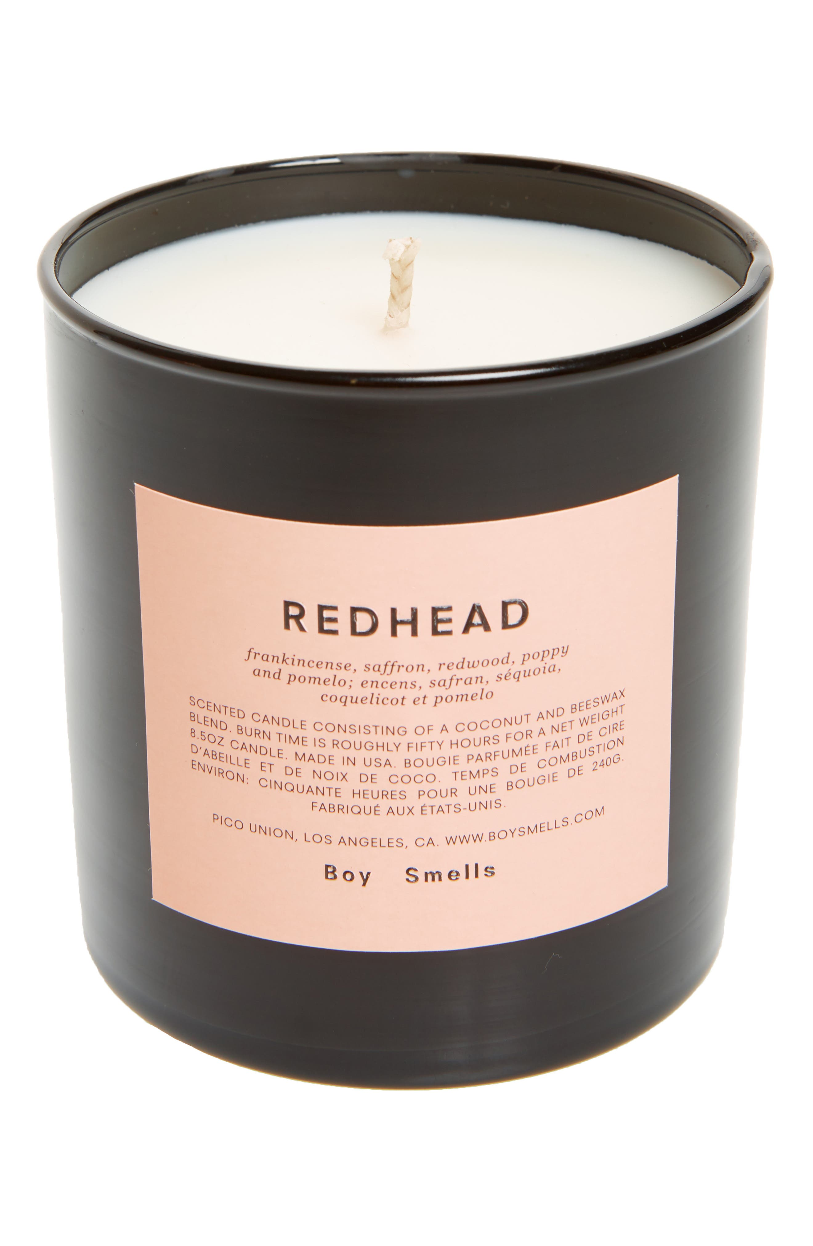 Redhead Scented Candle, Main, color, PINK