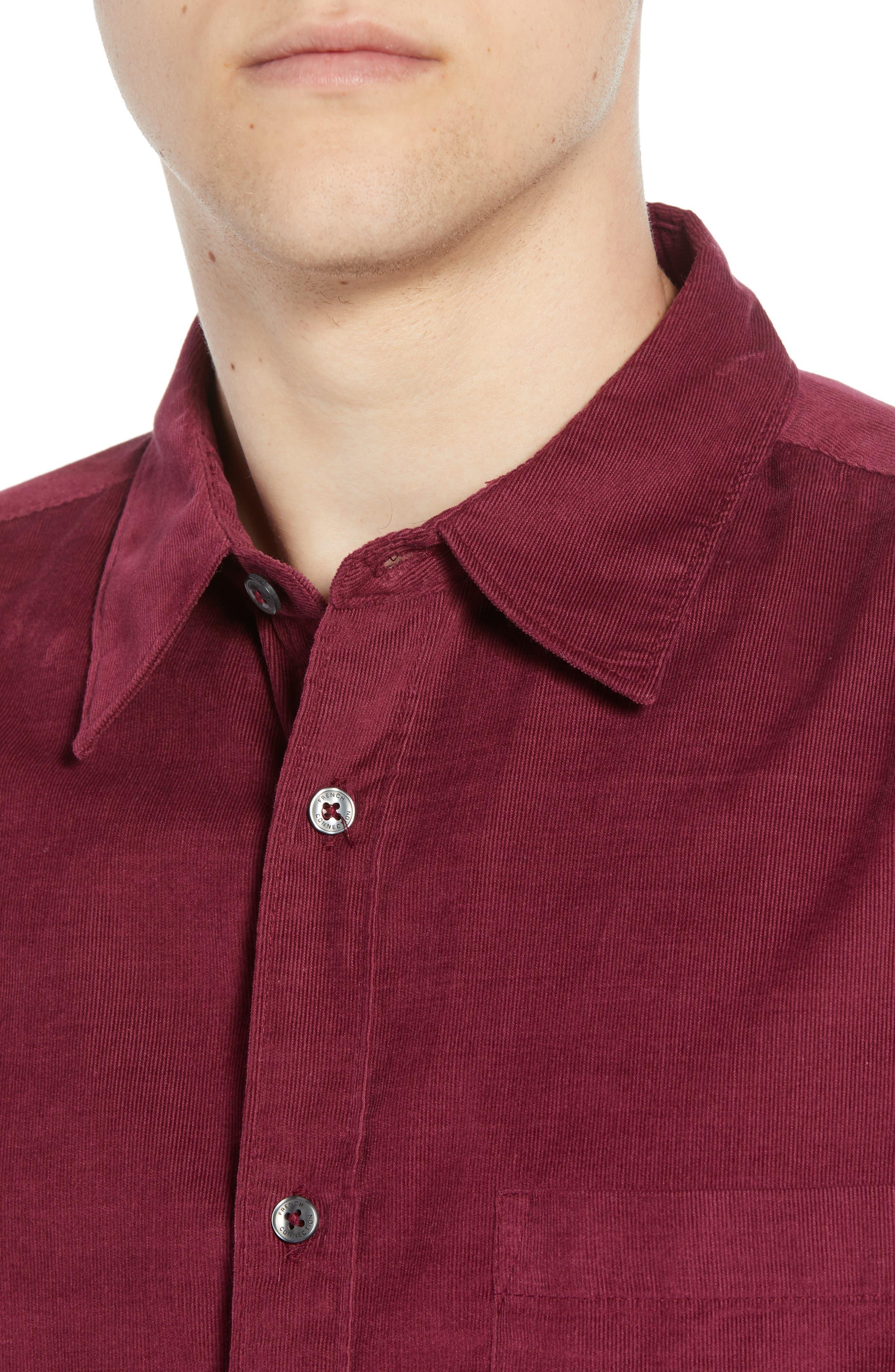 28 Wales Regular Fit Corduroy Shirt,                             Alternate thumbnail 2, color,                             RASPBERRY BERET