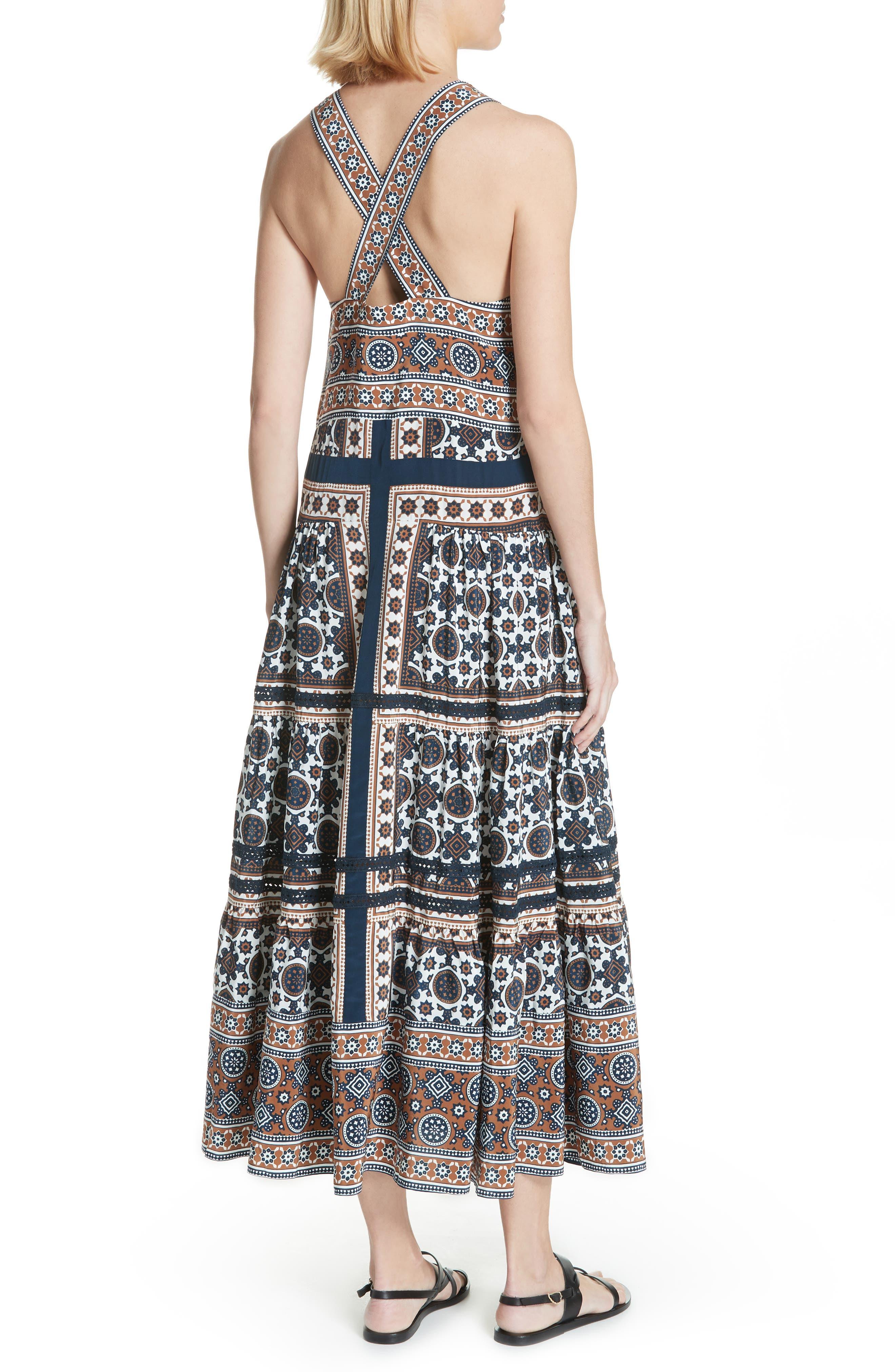 Ezri Print Maxi Dress,                             Alternate thumbnail 2, color,                             BLUE MULTI