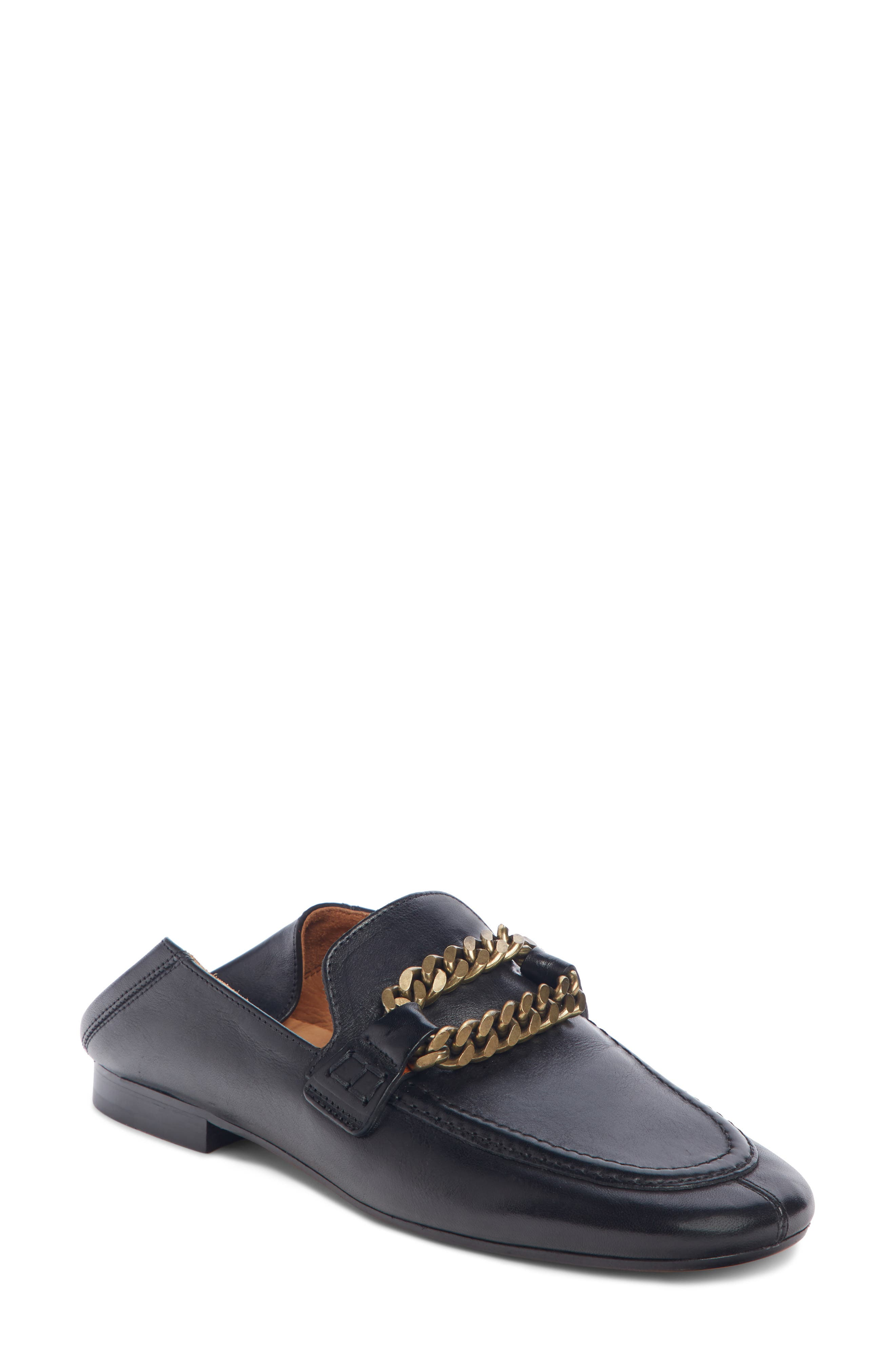ISABEL MARANT,                             Firlee Chain Convertible Loafer,                             Main thumbnail 1, color,                             BLACK