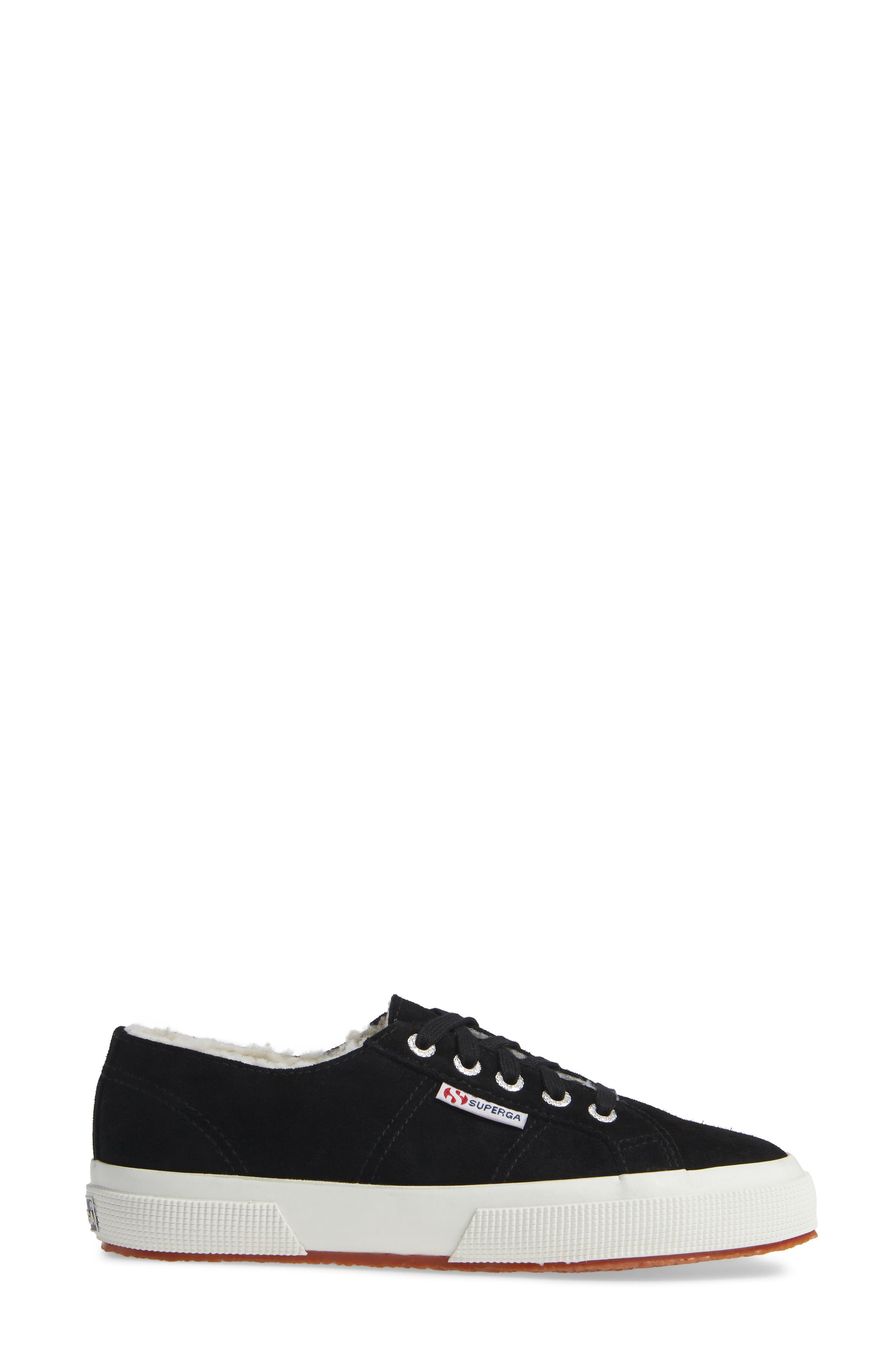 2750 Suefurw Sneaker,                             Alternate thumbnail 3, color,                             BLACK SUEDE