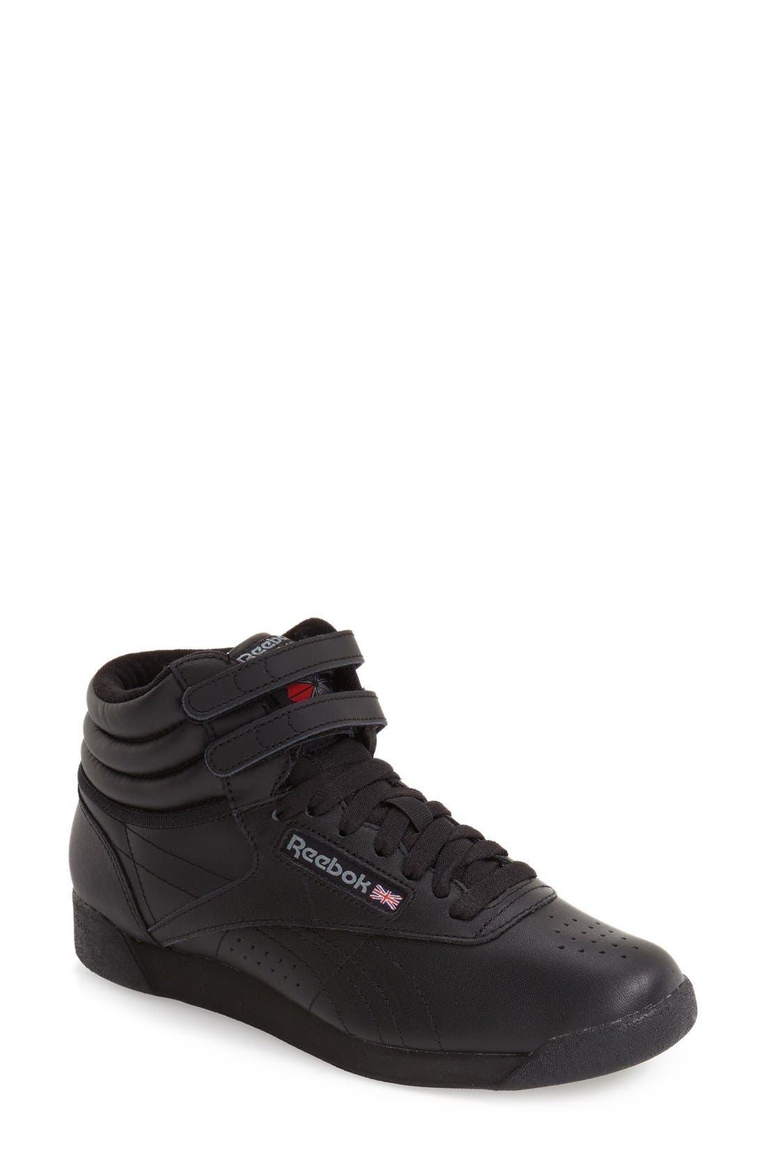'Freestyle Hi' Sneaker,                         Main,                         color, BLACK