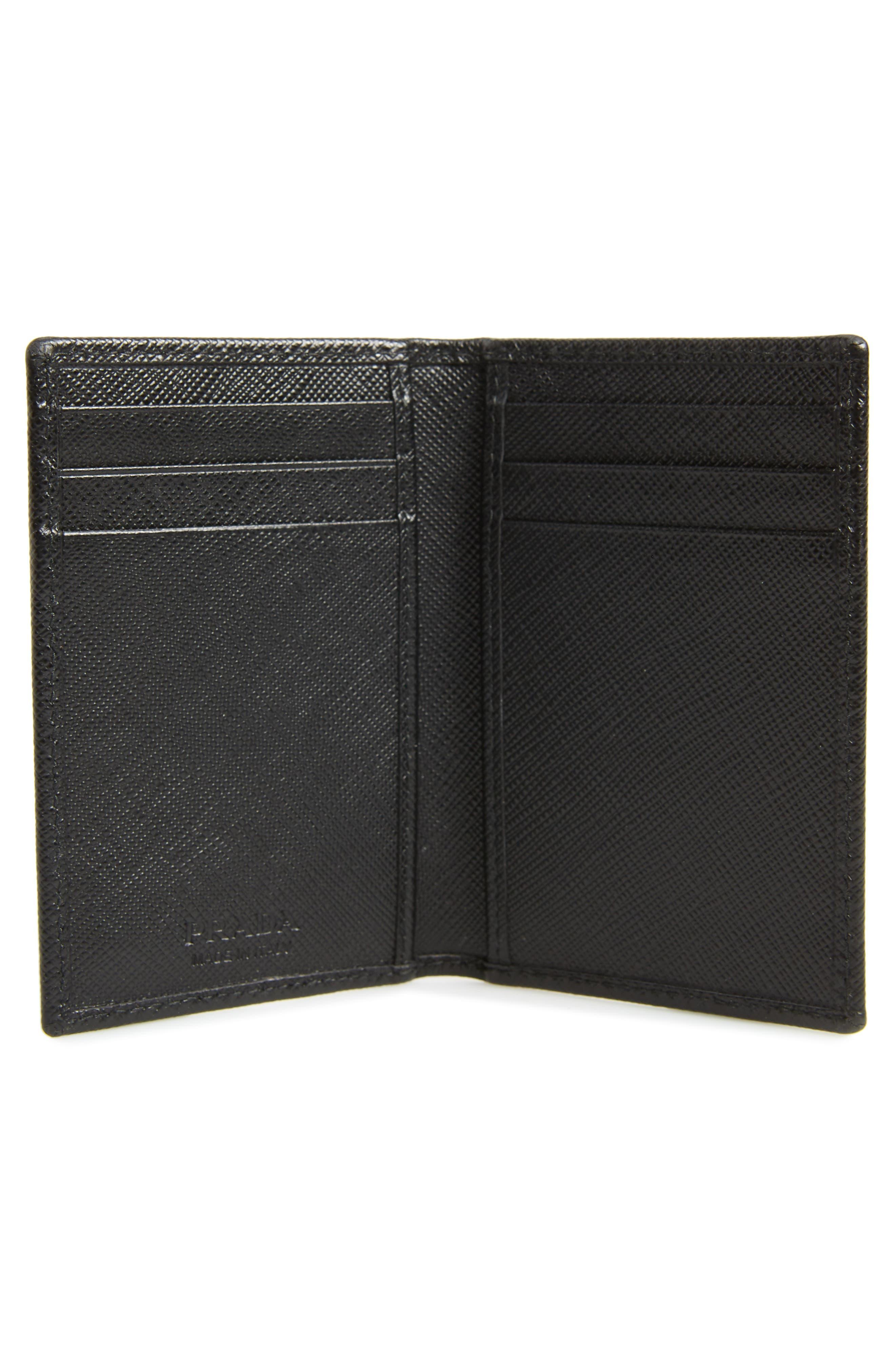 Long Saffiano Leather Card Case,                             Alternate thumbnail 2, color,                             001