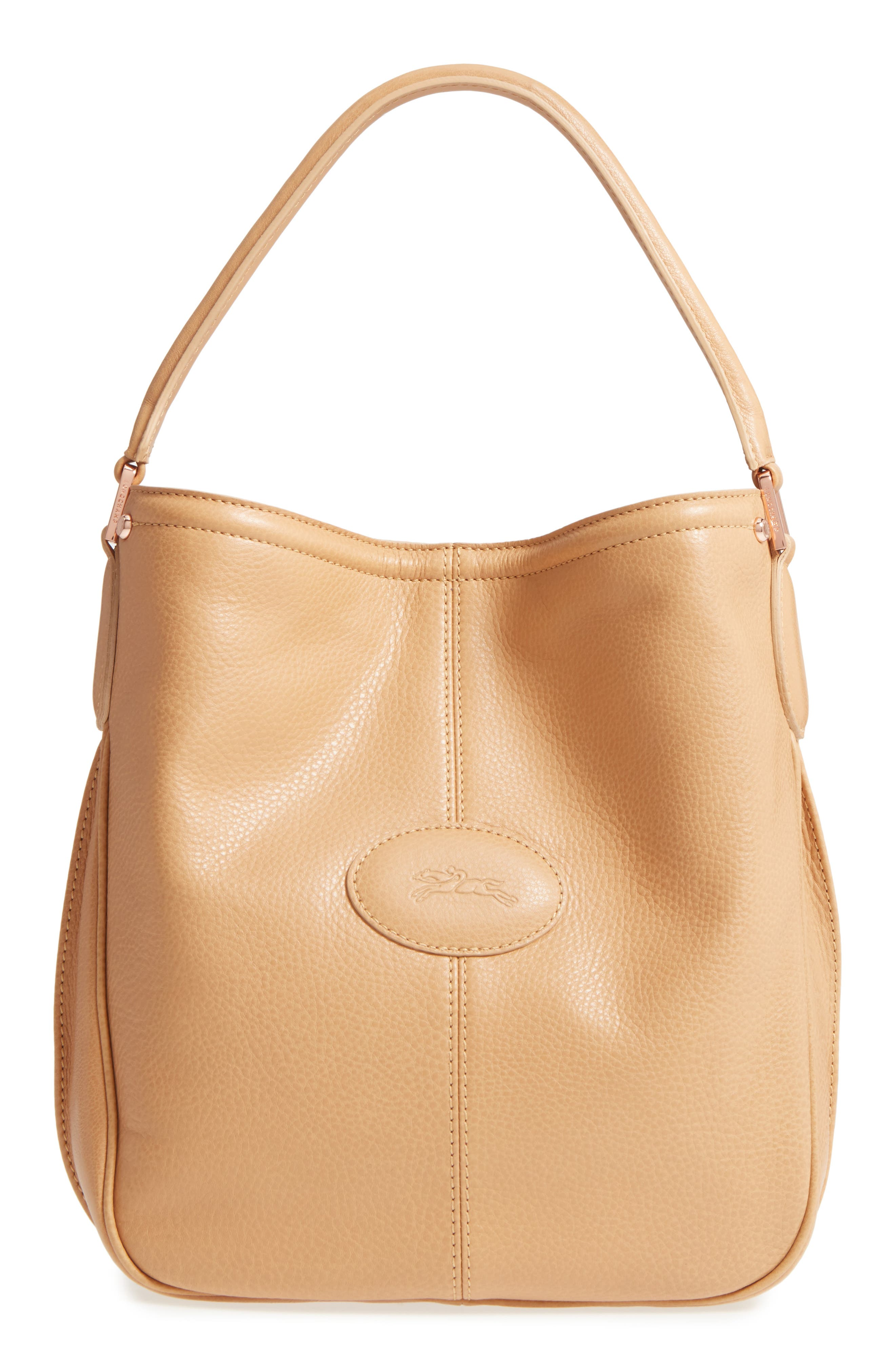 'Mystery' Leather Hobo,                         Main,                         color, 266