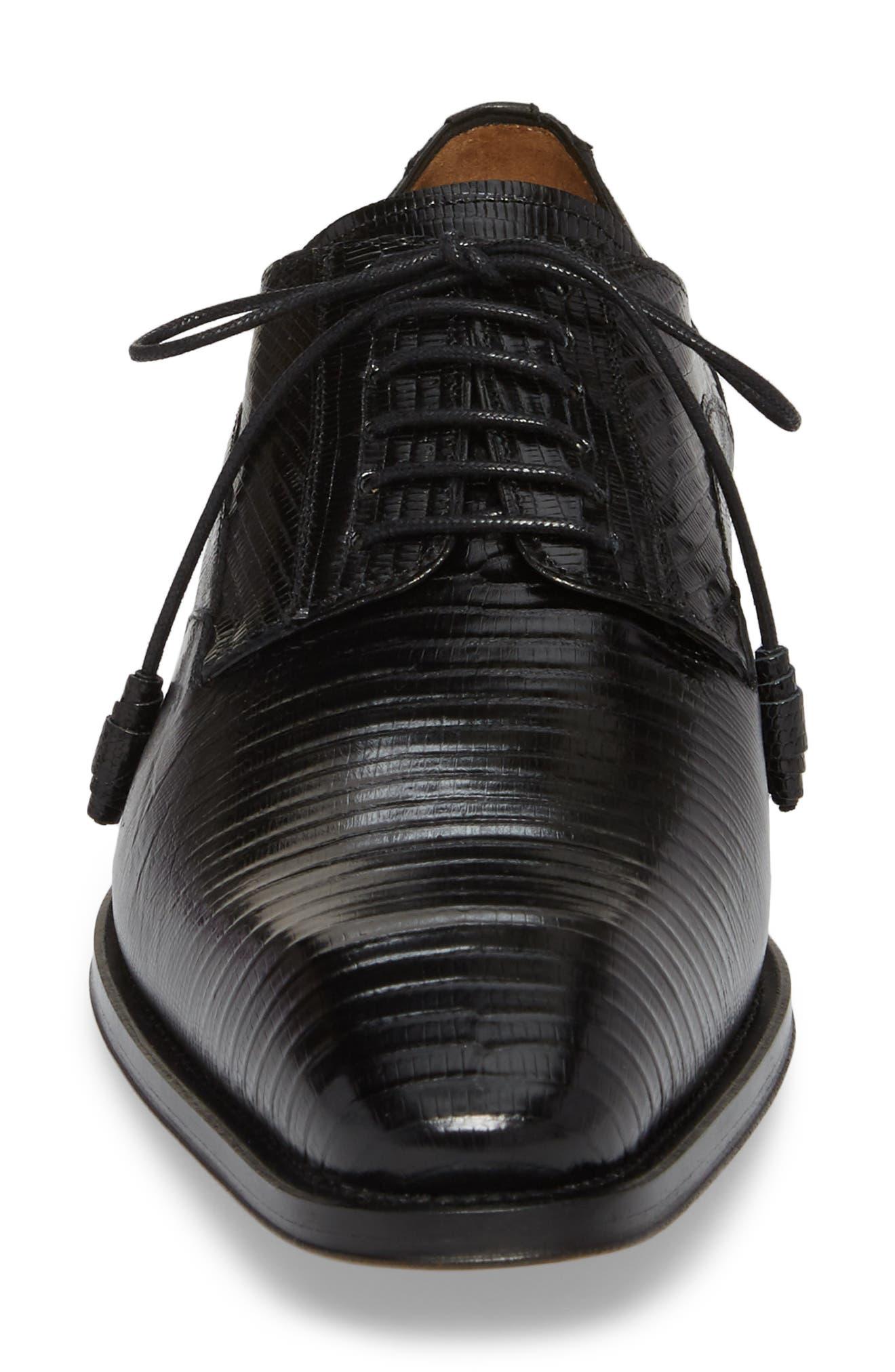 Pegaso Plain Toe Derby,                             Alternate thumbnail 4, color,                             BLACK