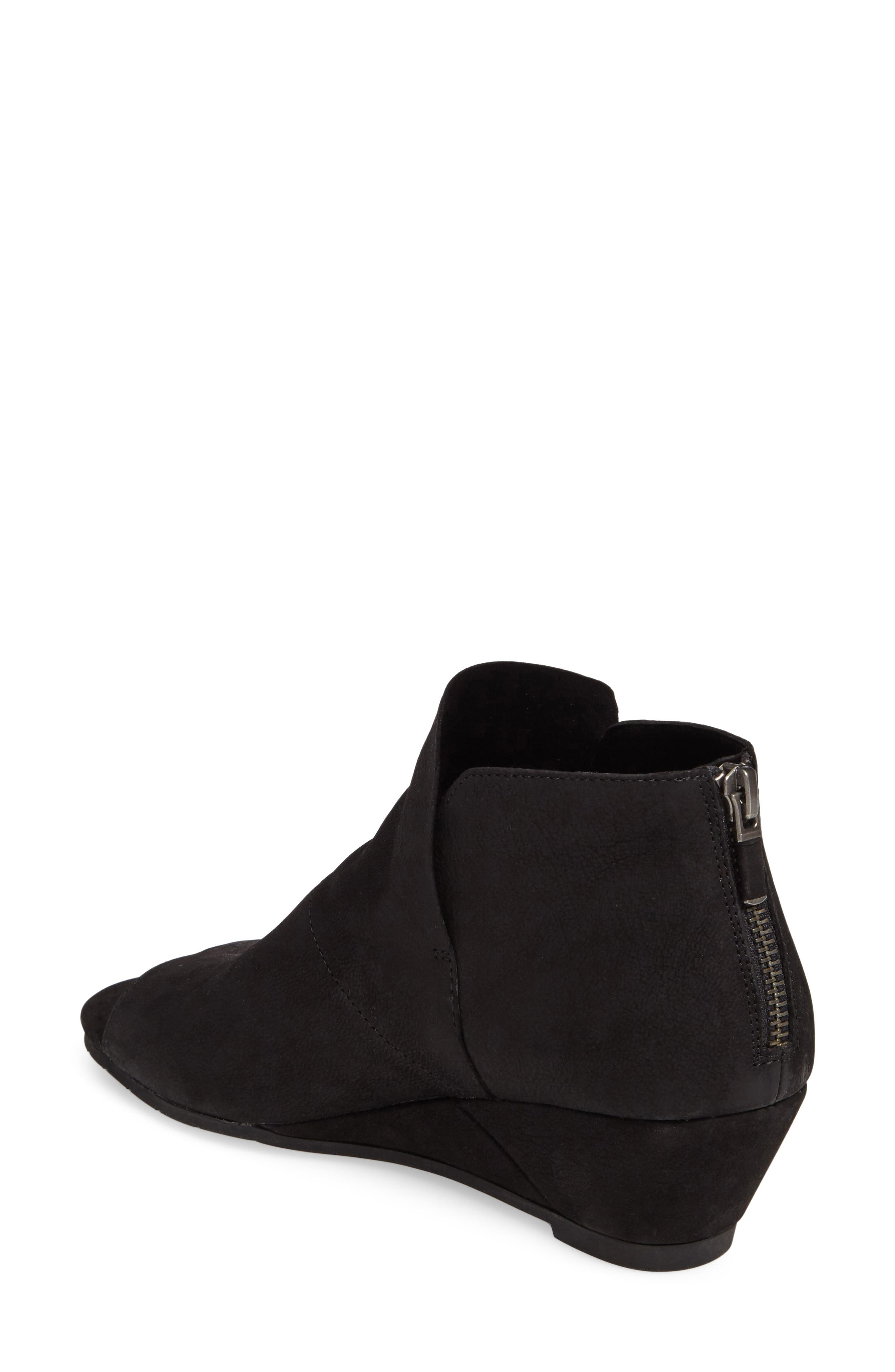 Duffy Open Toe Wedge Bootie,                             Alternate thumbnail 2, color,                             001