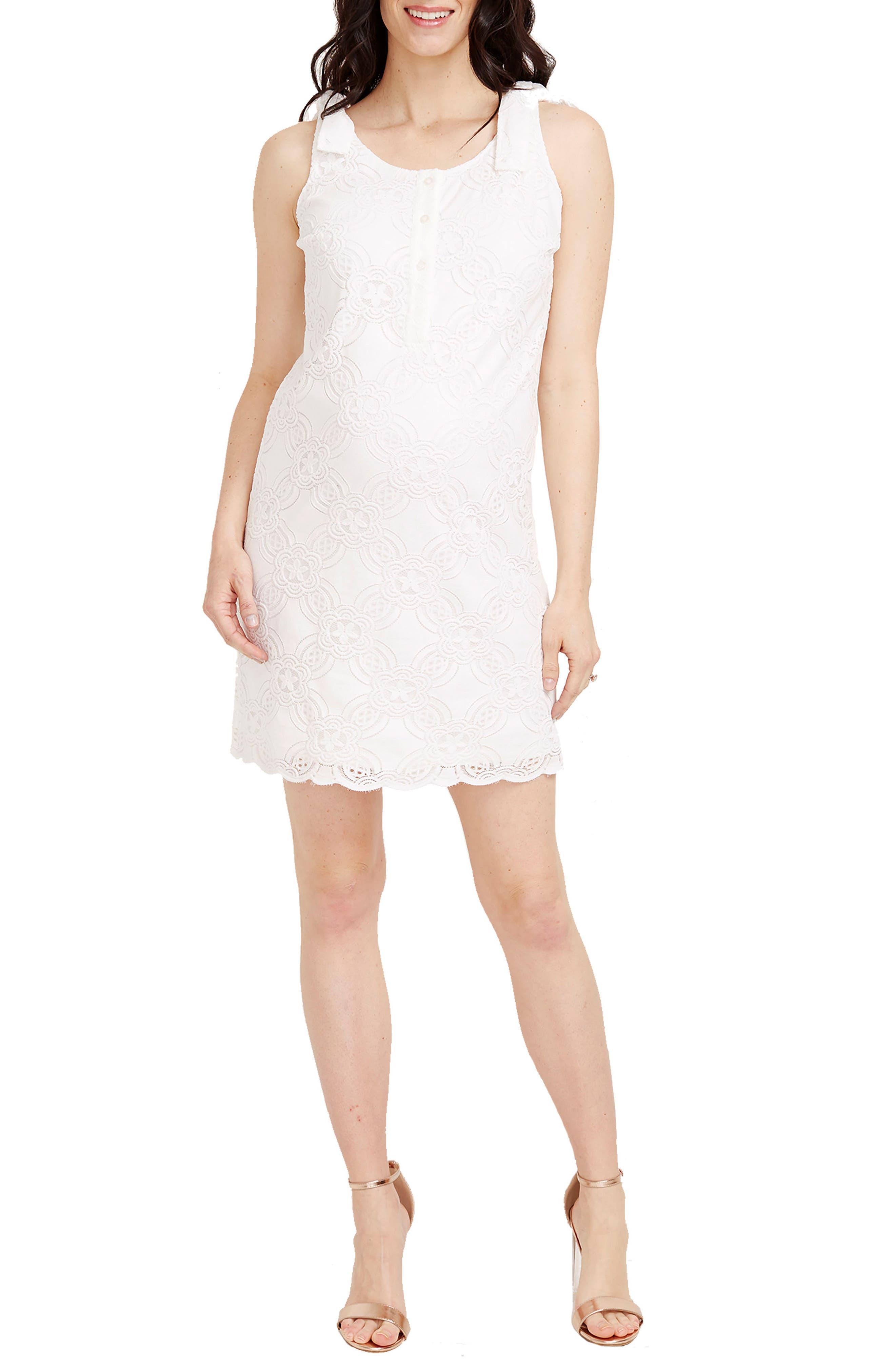 Rosie Pope Naomi Maternity Shift Dress, Ivory