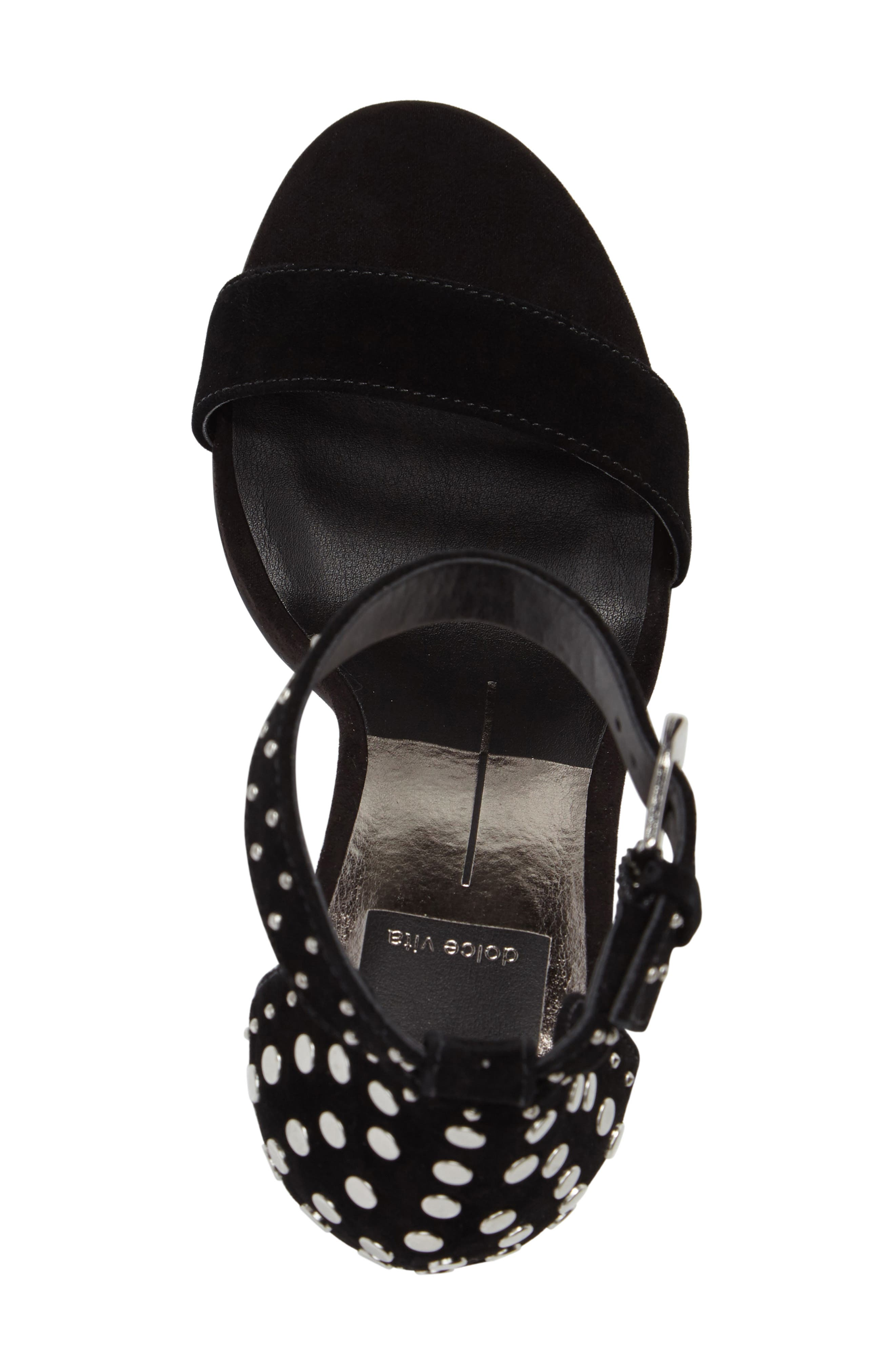 Hendrix Studded Sandal,                             Alternate thumbnail 5, color,                             001