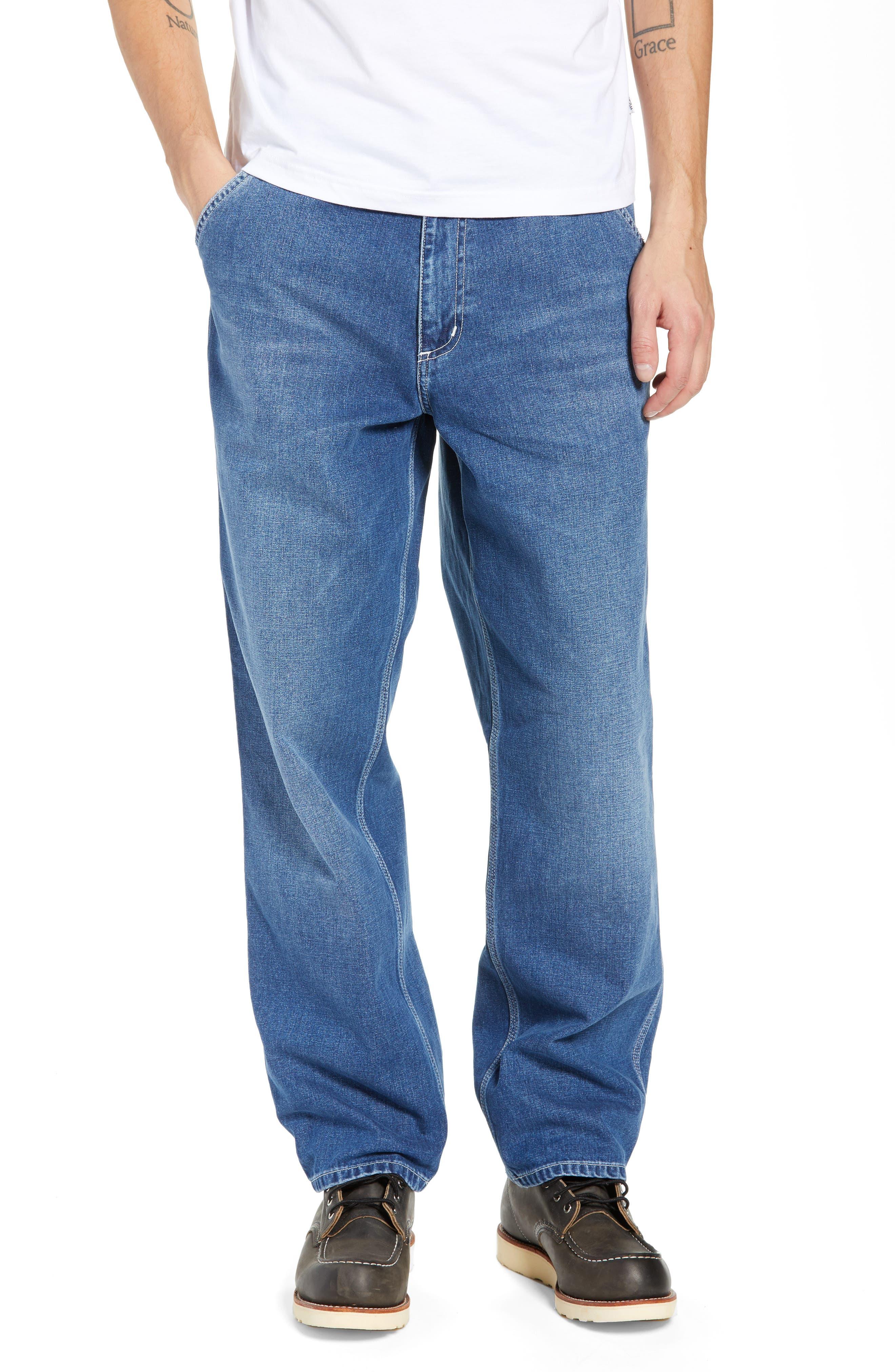 CARHARTT WORK IN PROGRESS Simple Denim Jeans, Main, color, BLUE