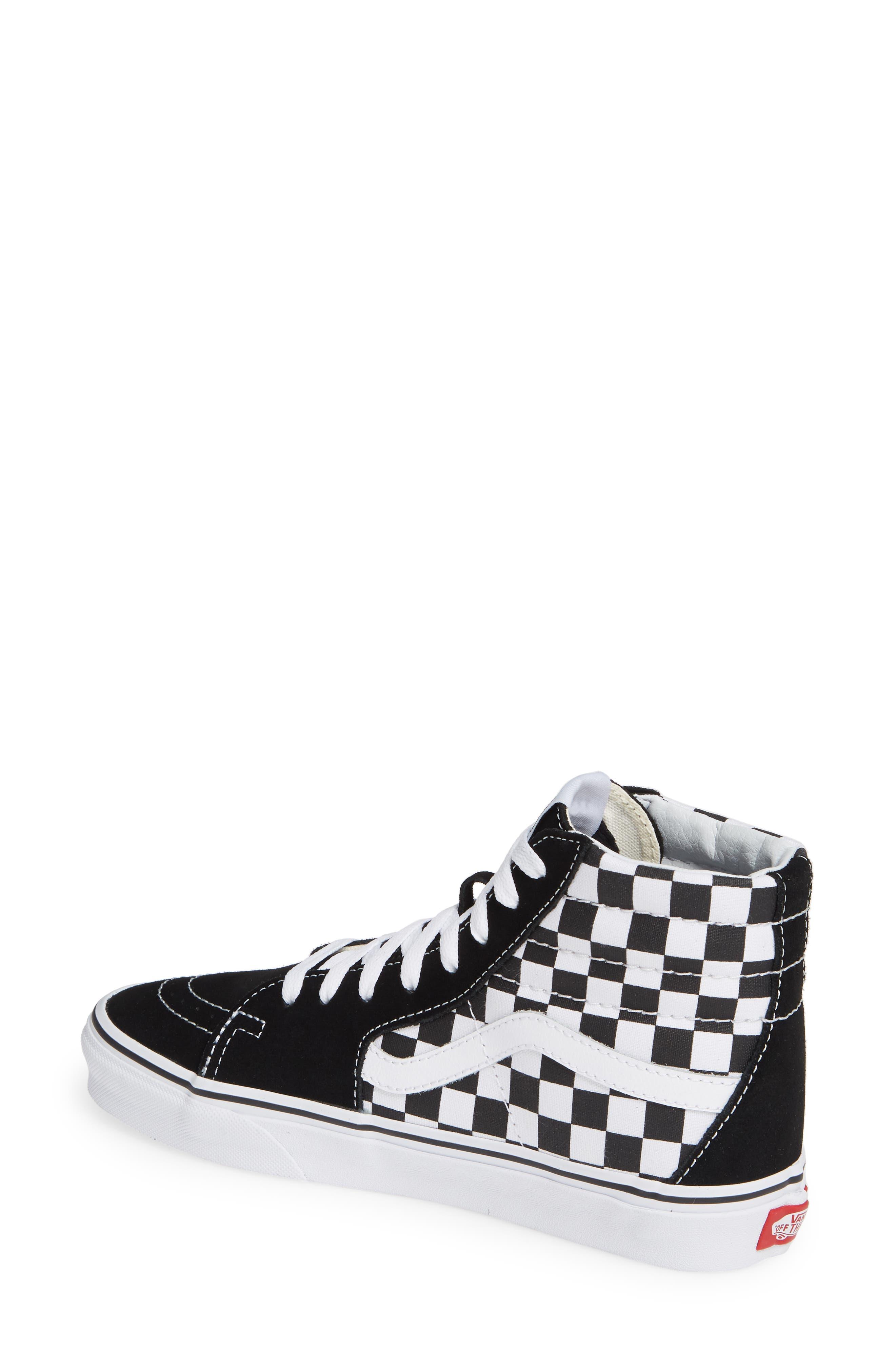 Sk8-Hi Patch High Top Sneaker,                             Alternate thumbnail 2, color,                             BLACK/ TRUE WHITE