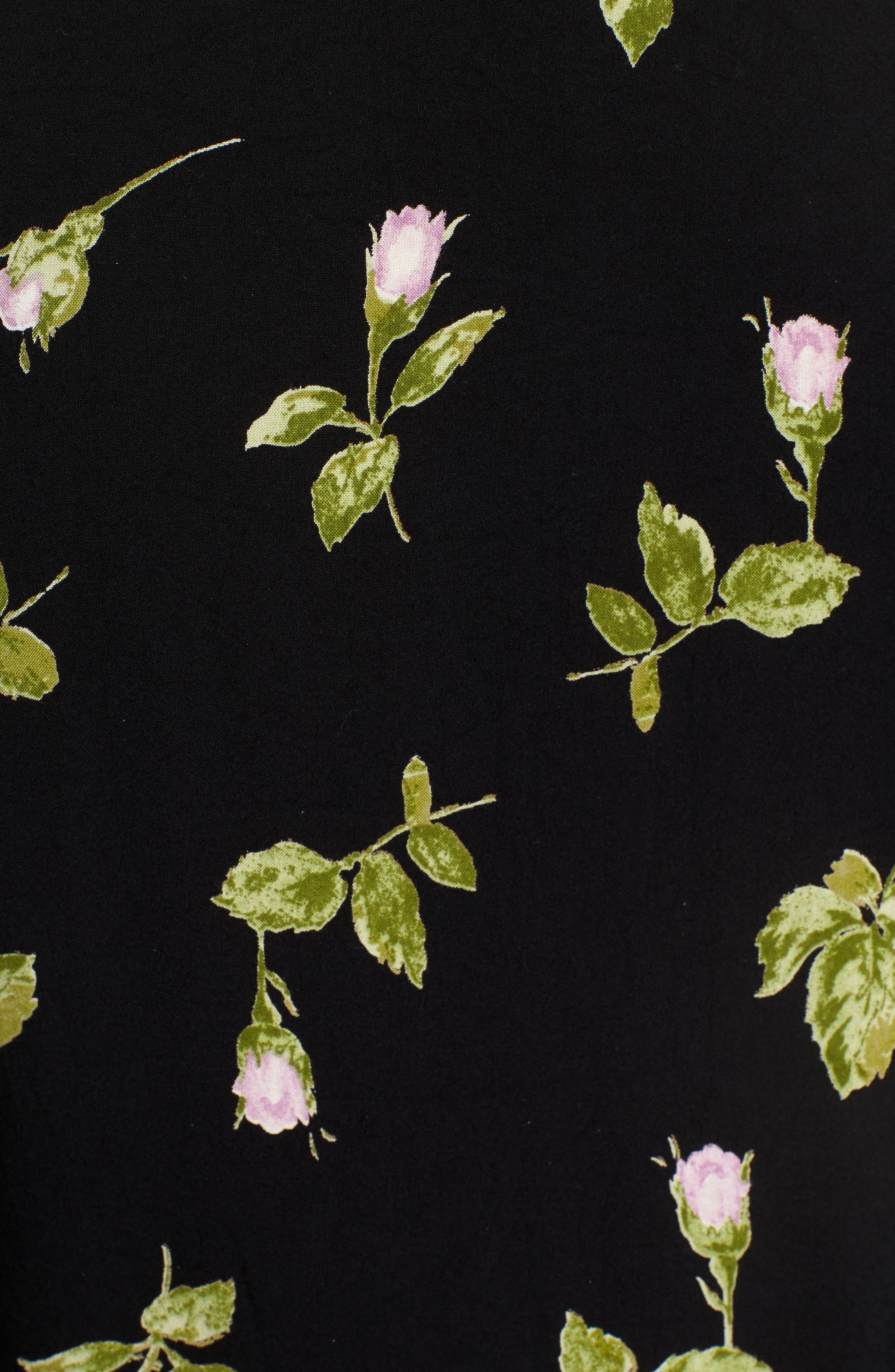 St. Claire Floral Blouse,                             Alternate thumbnail 5, color,                             001