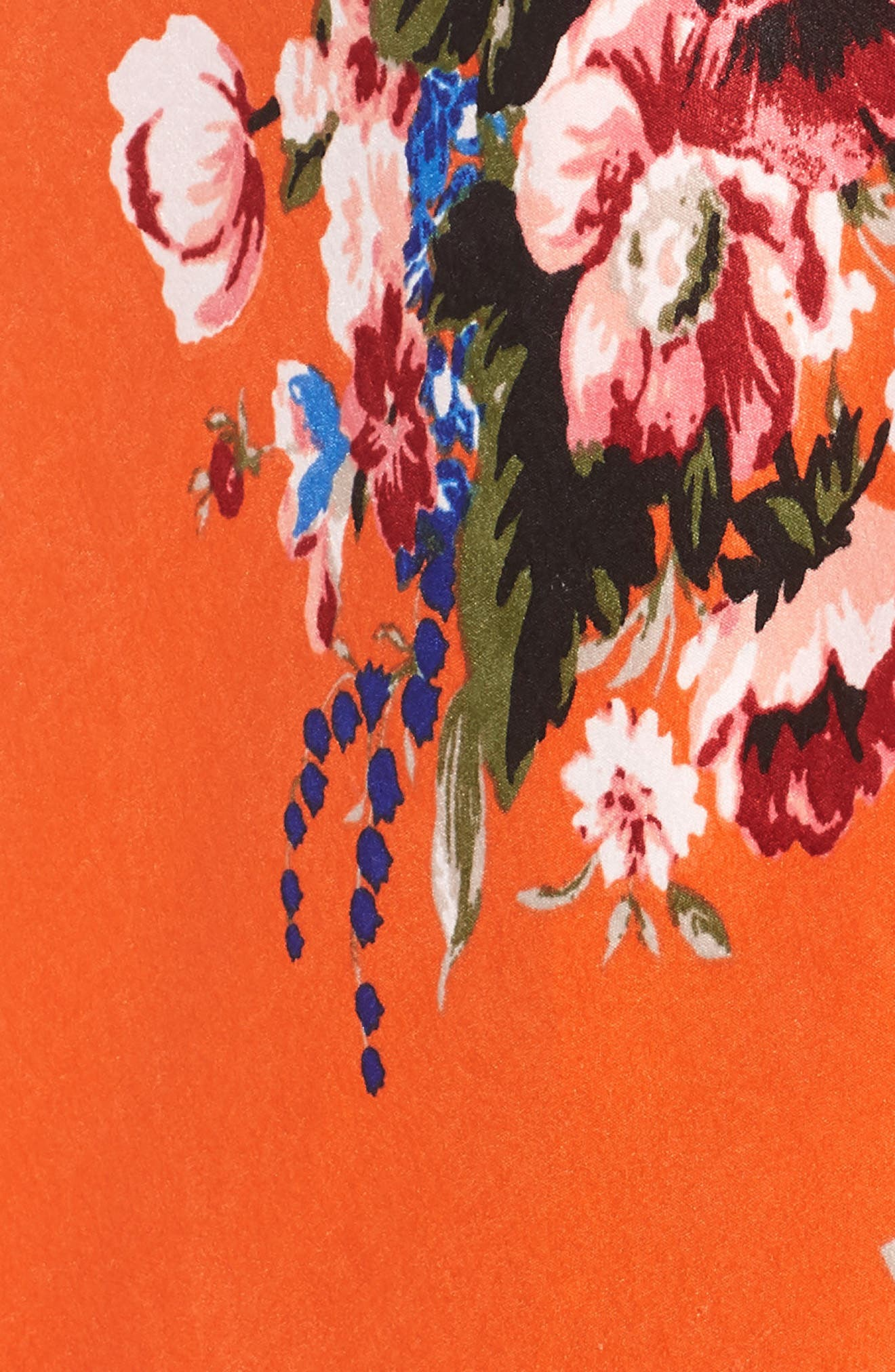 Lulu Off the Shoulder Crop Top,                             Alternate thumbnail 5, color,                             ORANGE ROSE