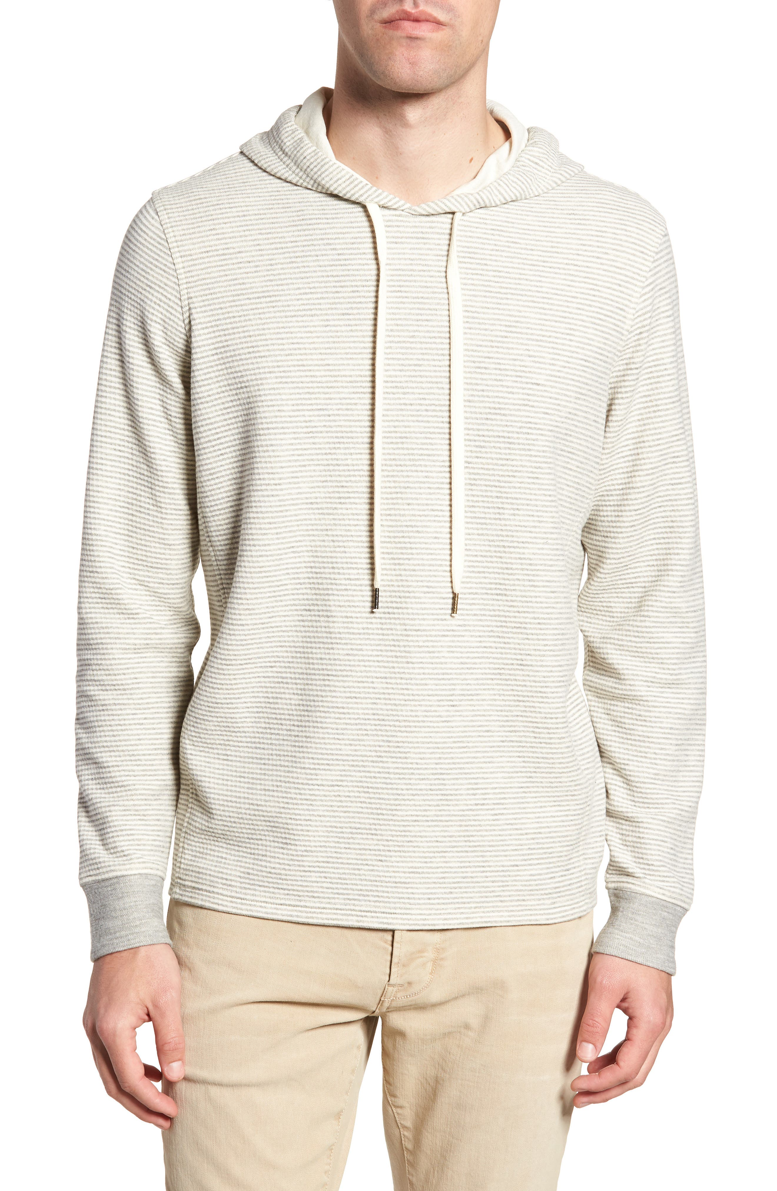 Cotton Blend Hoodie,                             Main thumbnail 1, color,                             GREY/ NATURAL