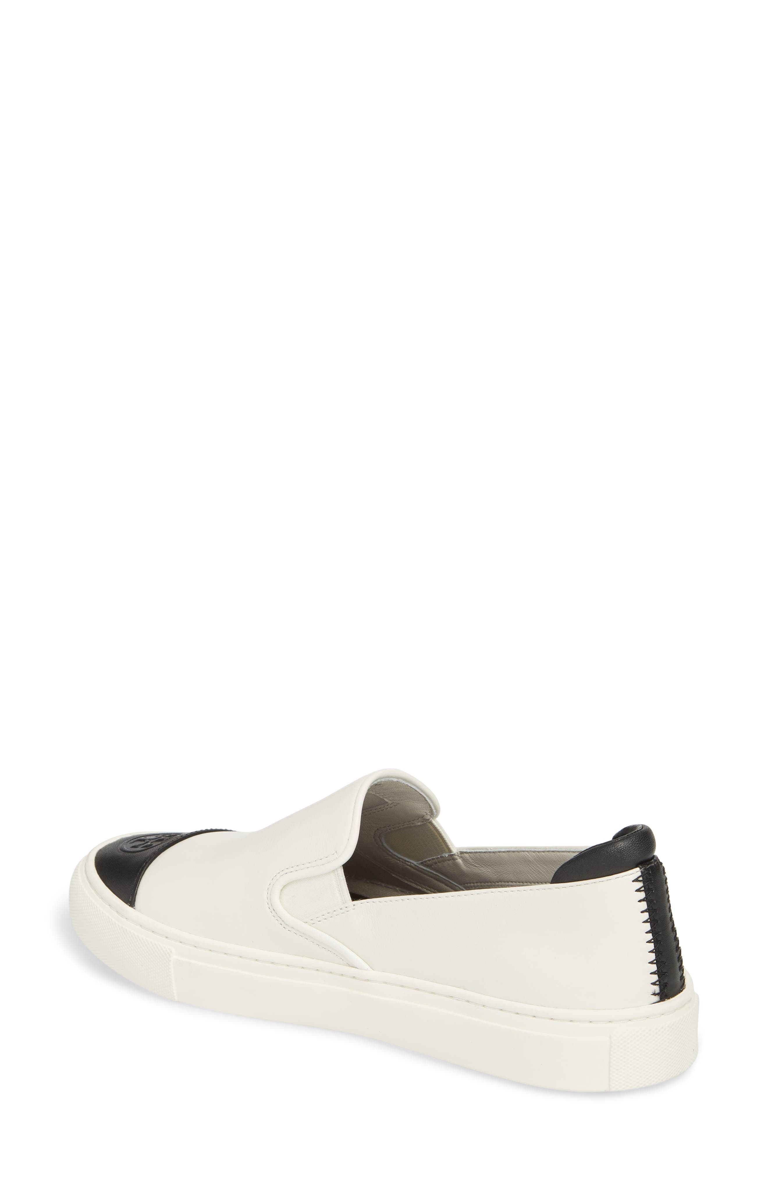 Colorblock Slip-On Sneaker,                             Alternate thumbnail 2, color,                             PERFECT IVORY/ PERFECT BLACK