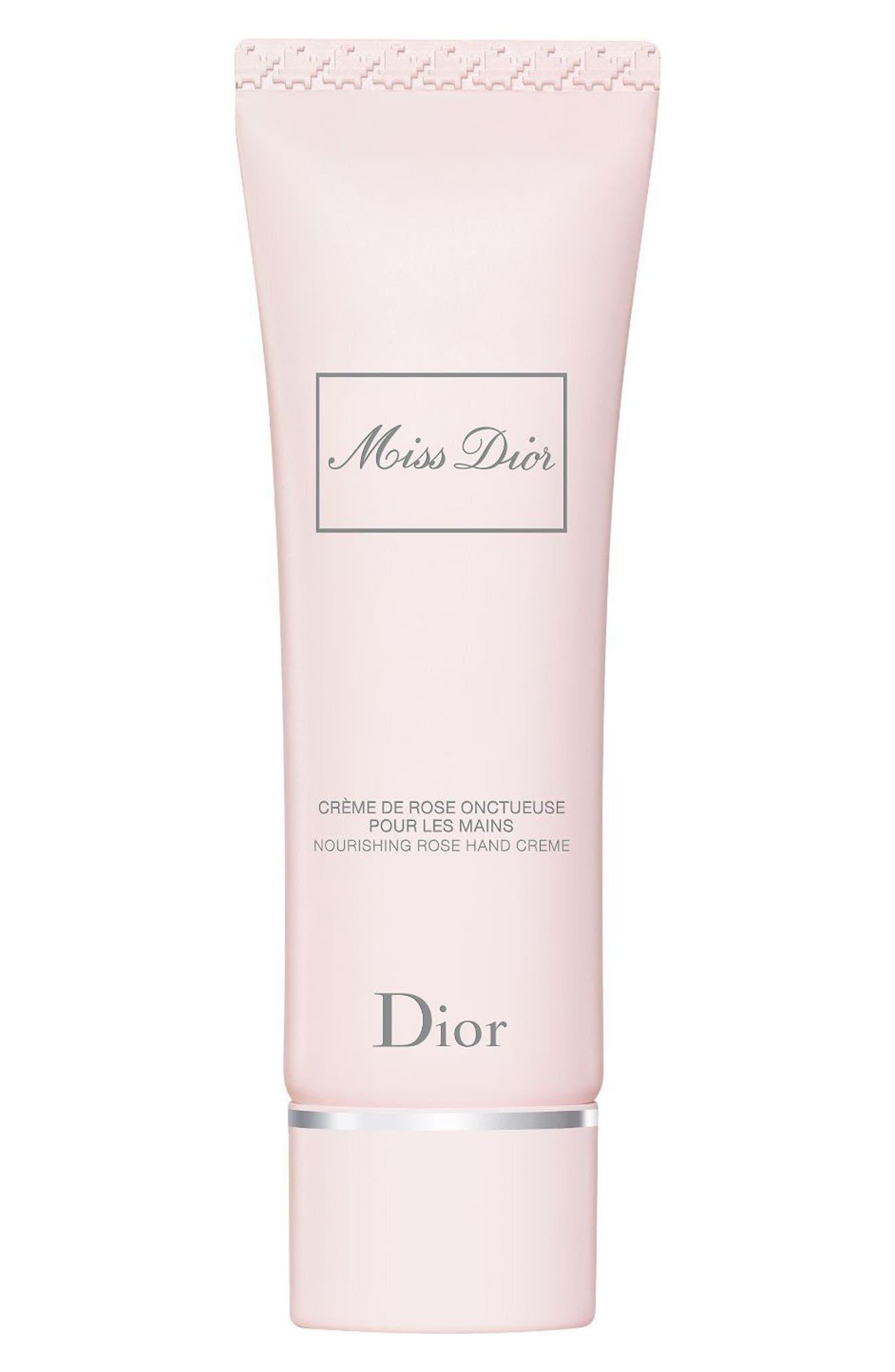 DIOR,                             Miss Dior Nourishing Rose Hand Cream,                             Main thumbnail 1, color,                             NO COLOR