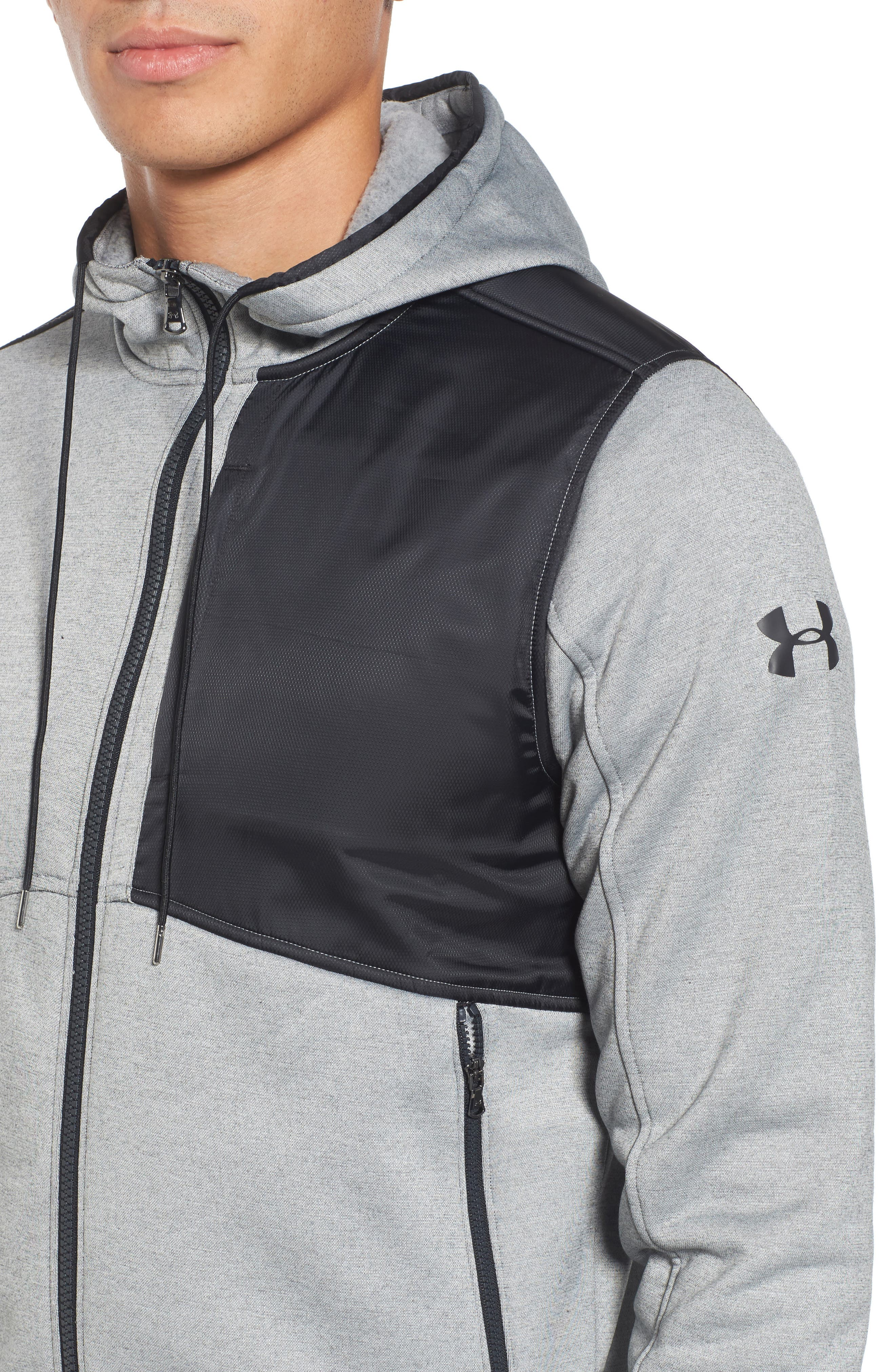 Courtside Stealth Zip Hoodie,                             Alternate thumbnail 14, color,