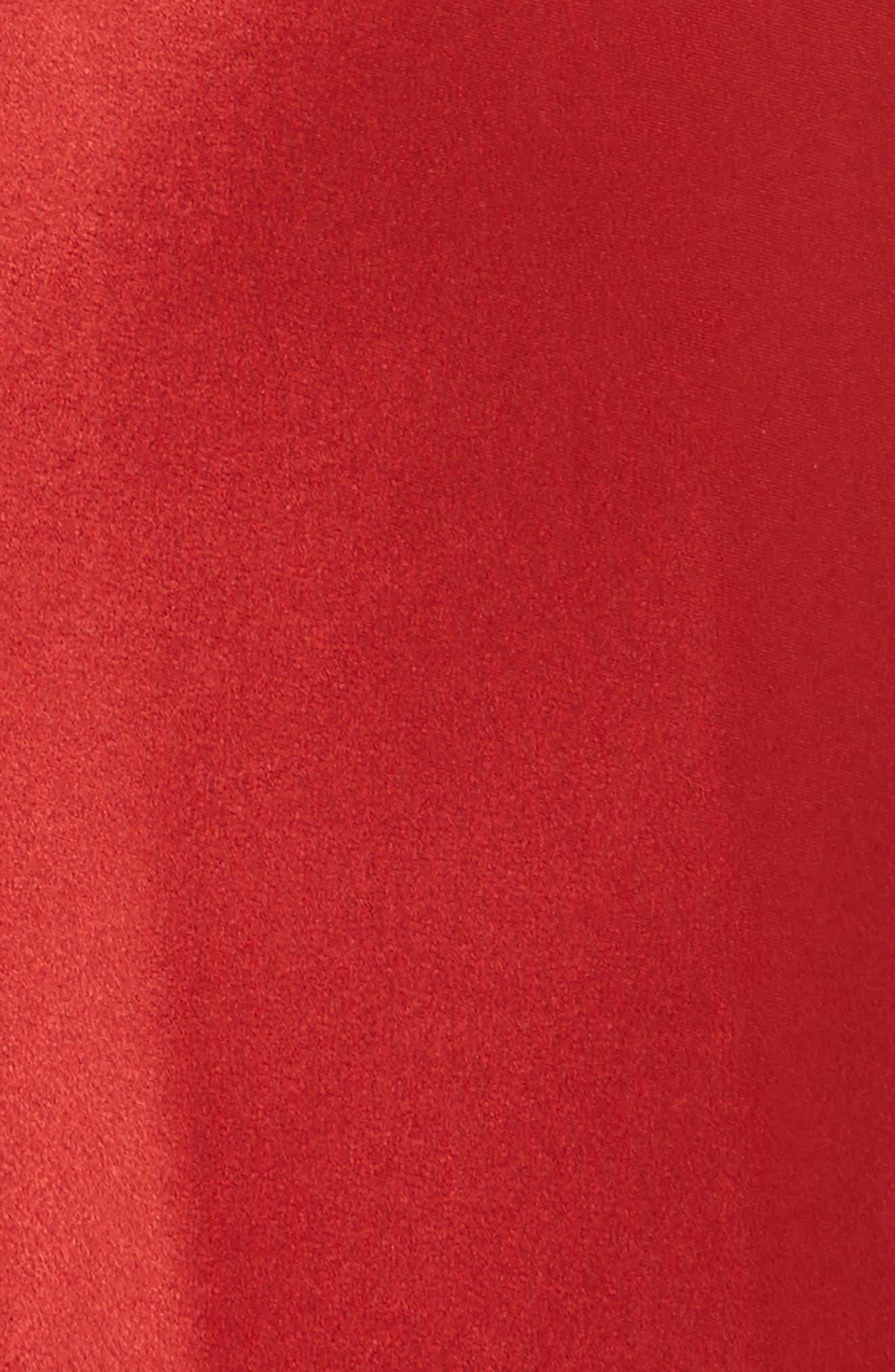 T by Alexander Wang Draped Satin Dress,                             Alternate thumbnail 6, color,                             610