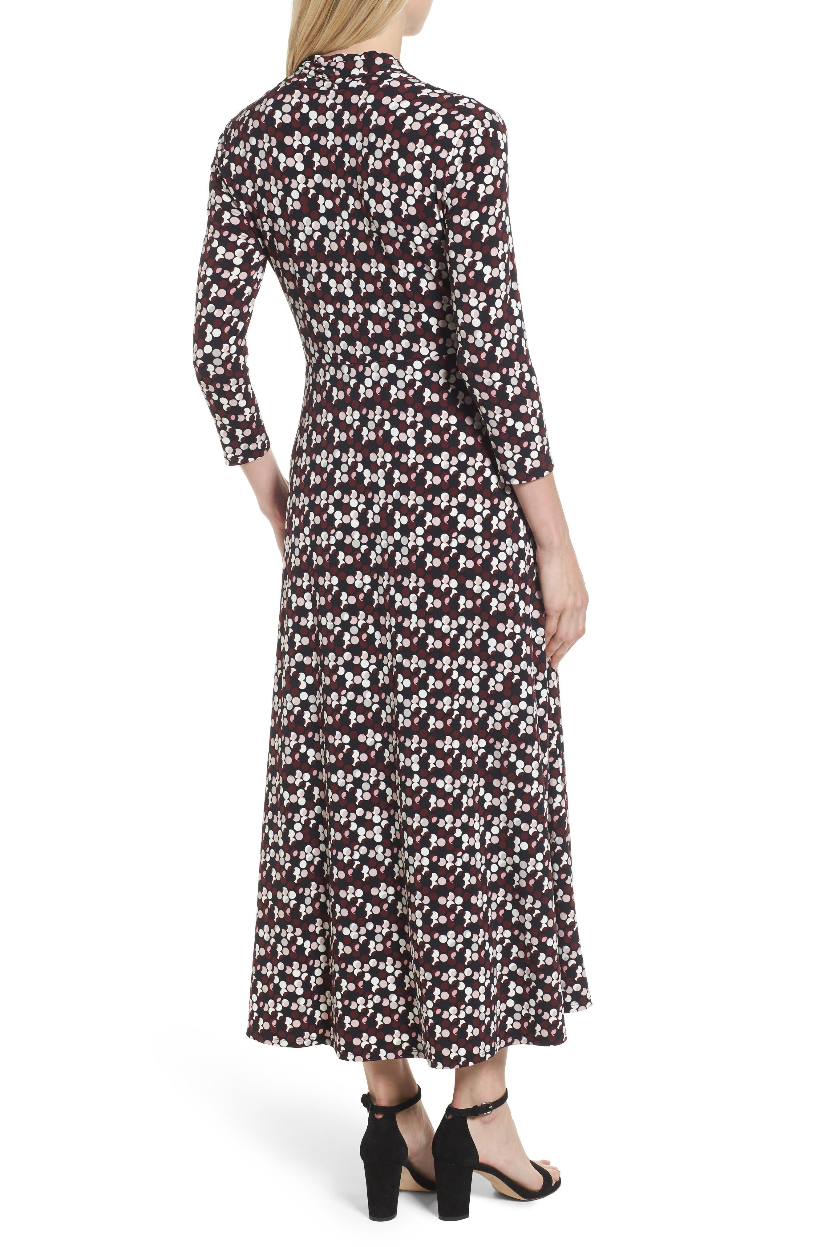 Dot Print Midi Dress,                             Alternate thumbnail 2, color,                             006