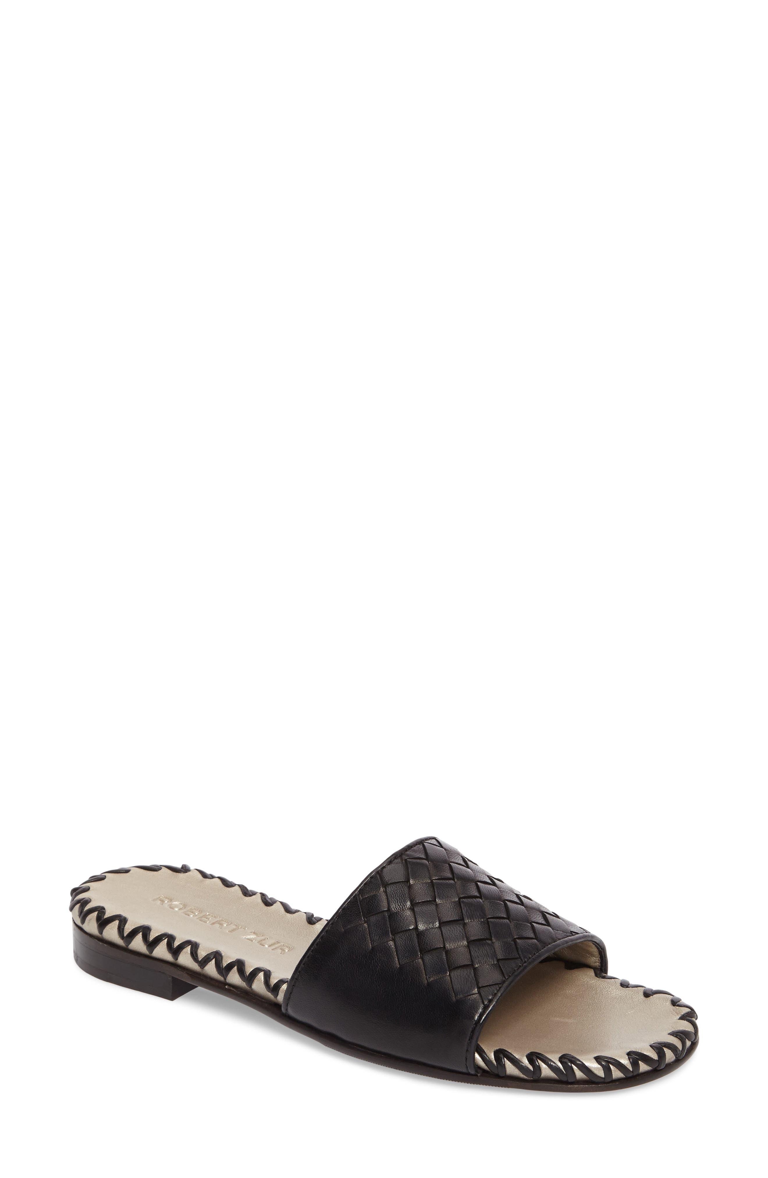 Matilda Woven Slide Sandal,                         Main,                         color, 001