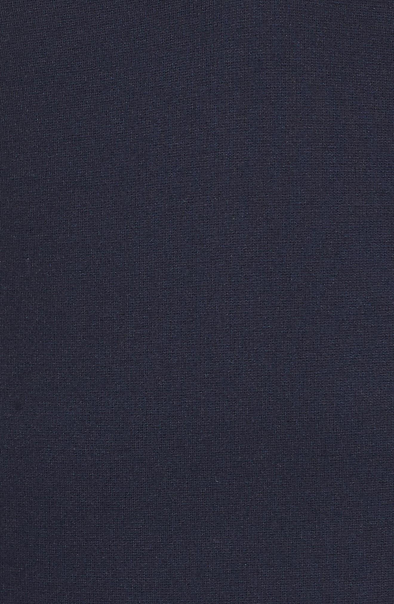 1901,                             Ruffle Trim Polo Dress,                             Alternate thumbnail 6, color,                             NAVY