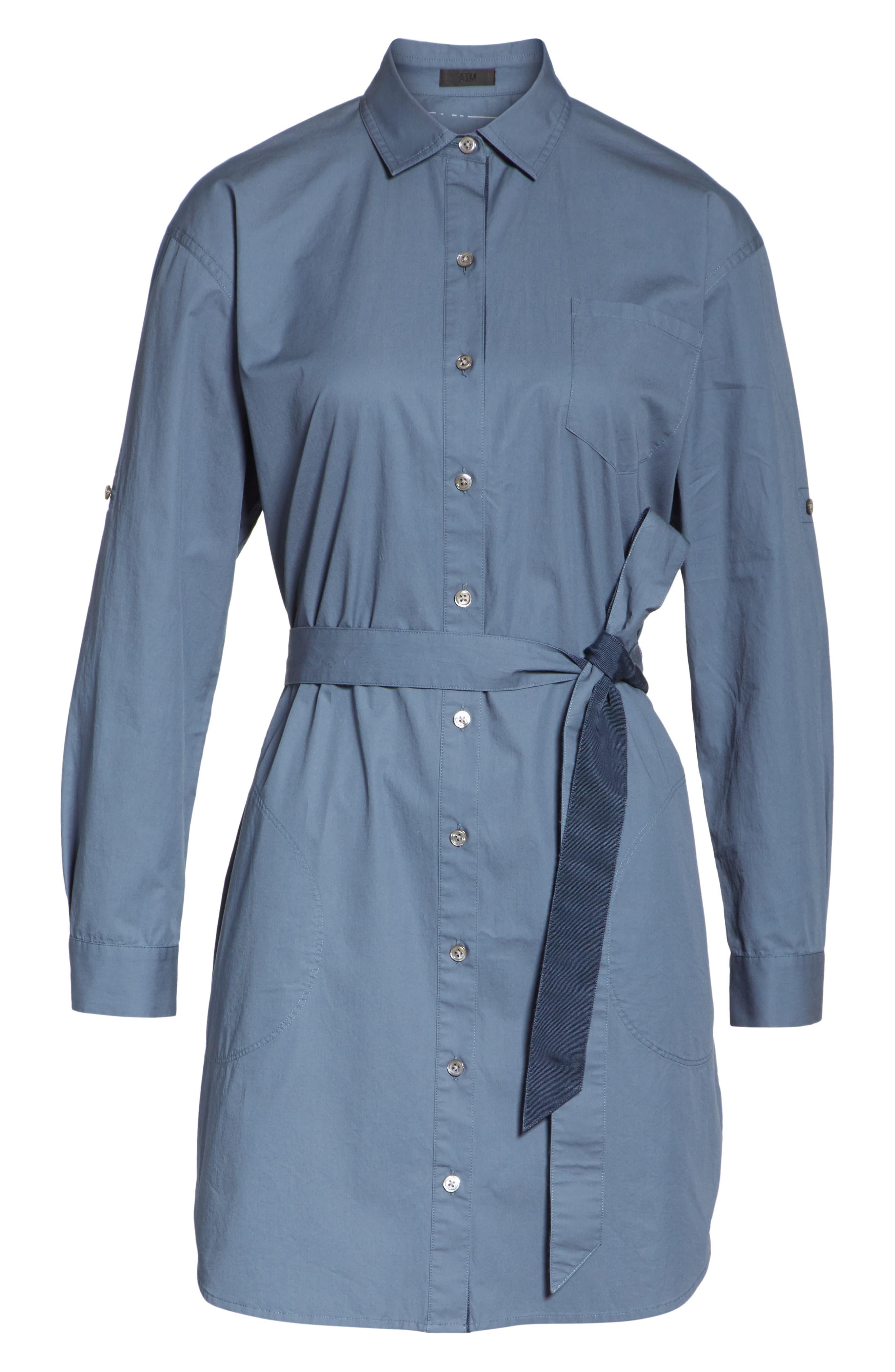 Poplin Shirtdress,                             Alternate thumbnail 6, color,                             434