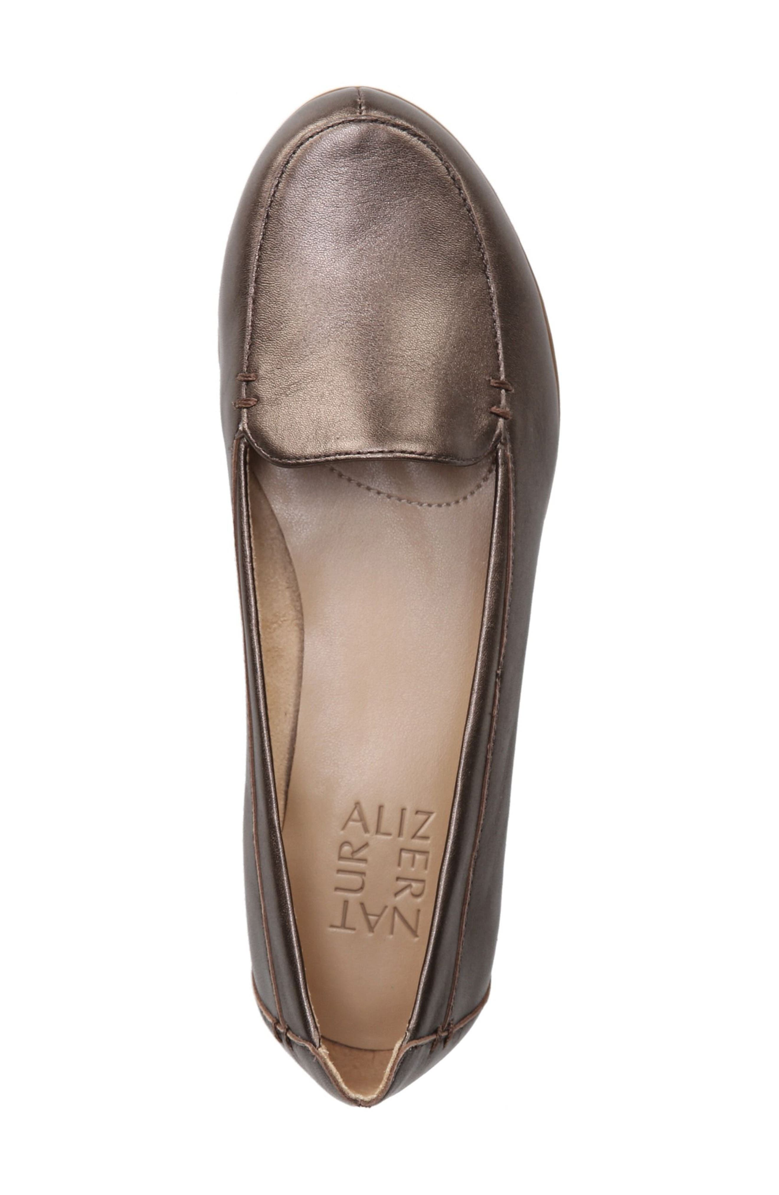 'Saban' Leather Loafer,                             Alternate thumbnail 5, color,                             BROWN BRONZE LEATHER