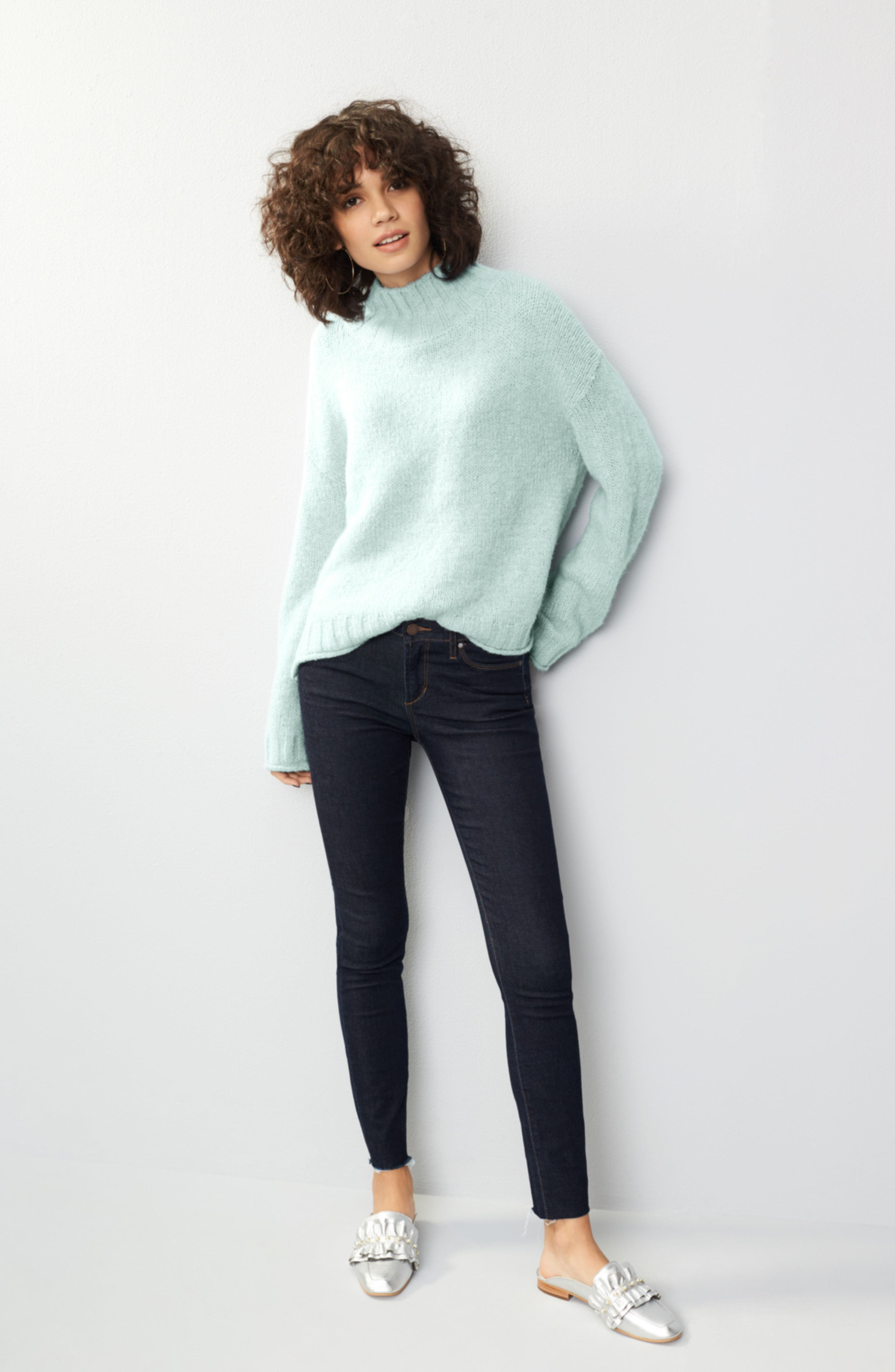 Cozy Mock Neck Sweater,                             Alternate thumbnail 7, color,                             330